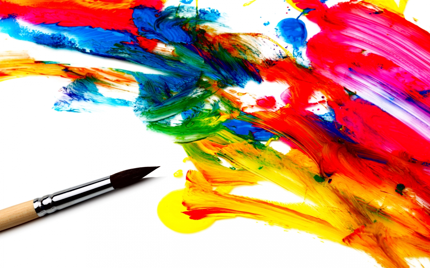 Abstract Paint Brush Wallpaper PC