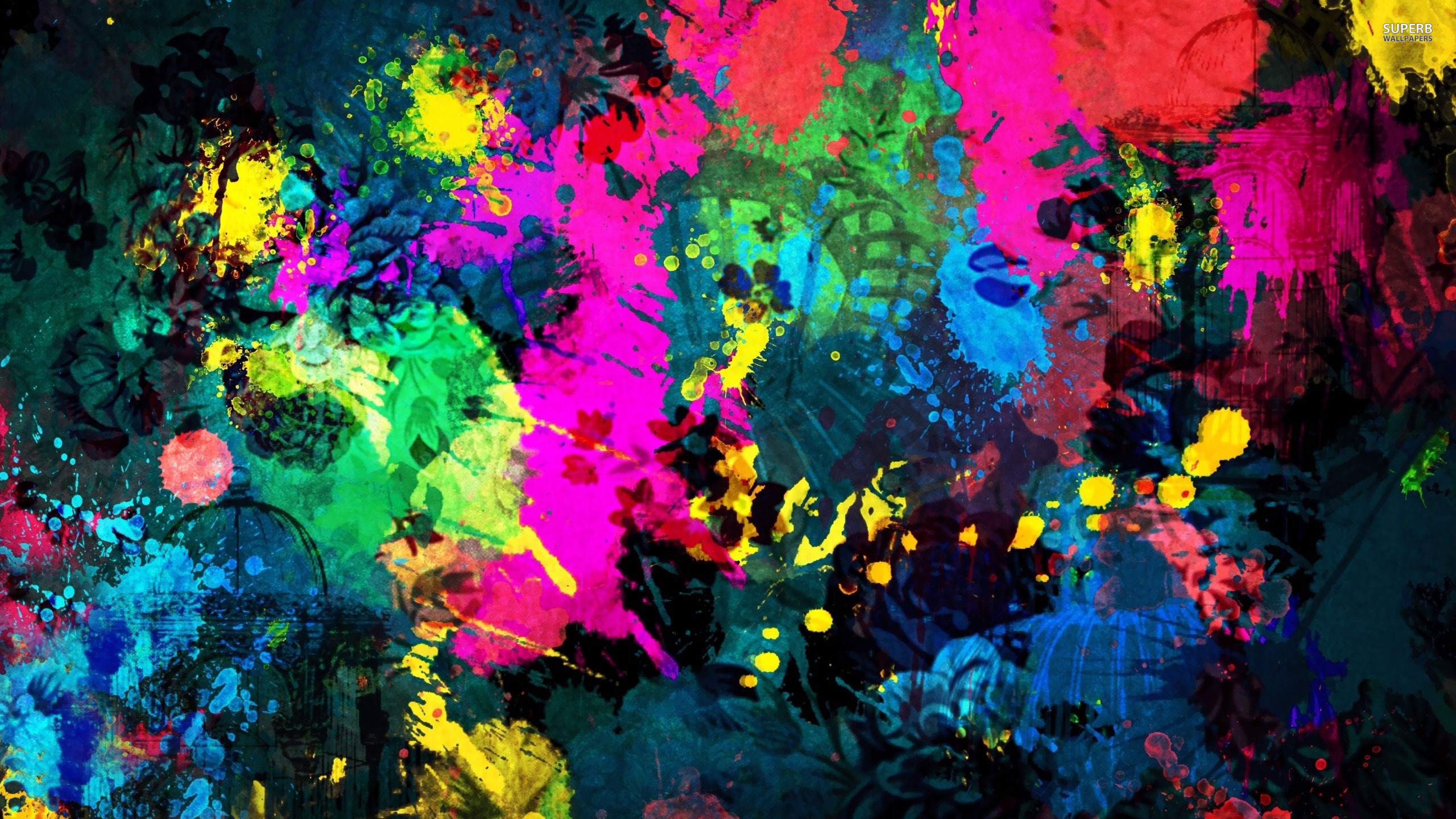 Colorful paint splatter wallpaper 2560x1440 jpg