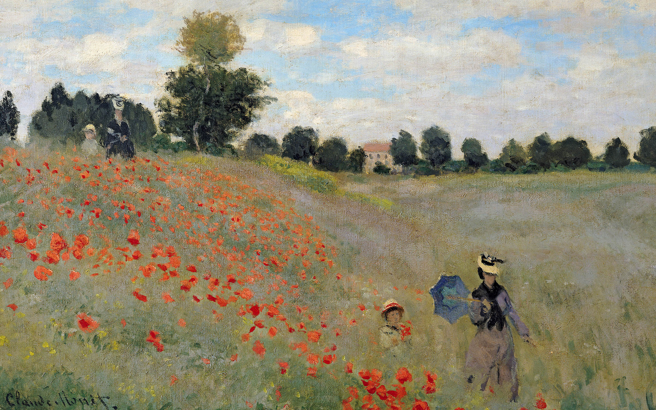 Painting Flower Field