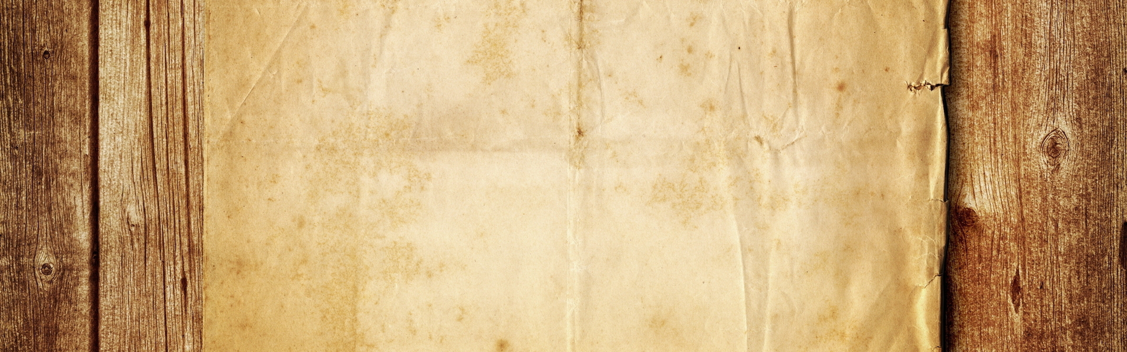 3840x1200 Wallpaper wood, paper, background, surface, lights