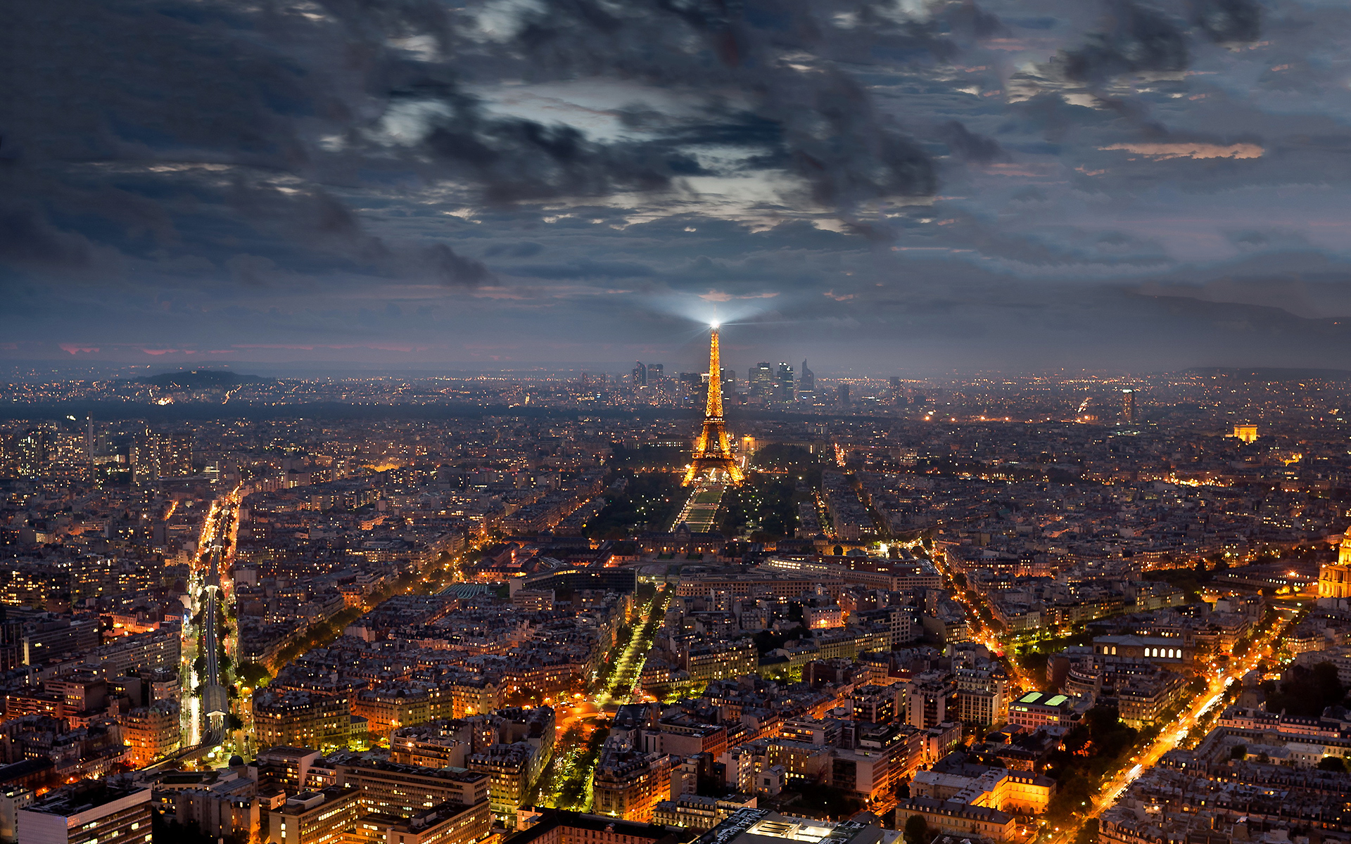Paris at evening