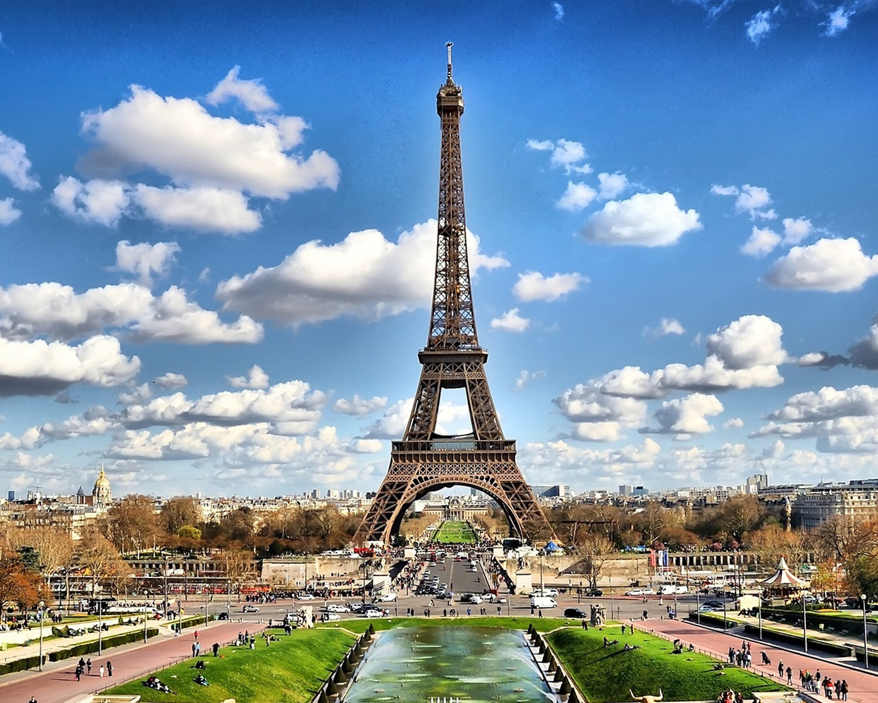 Eiffel Tower Paris 3 HD Wallpaper