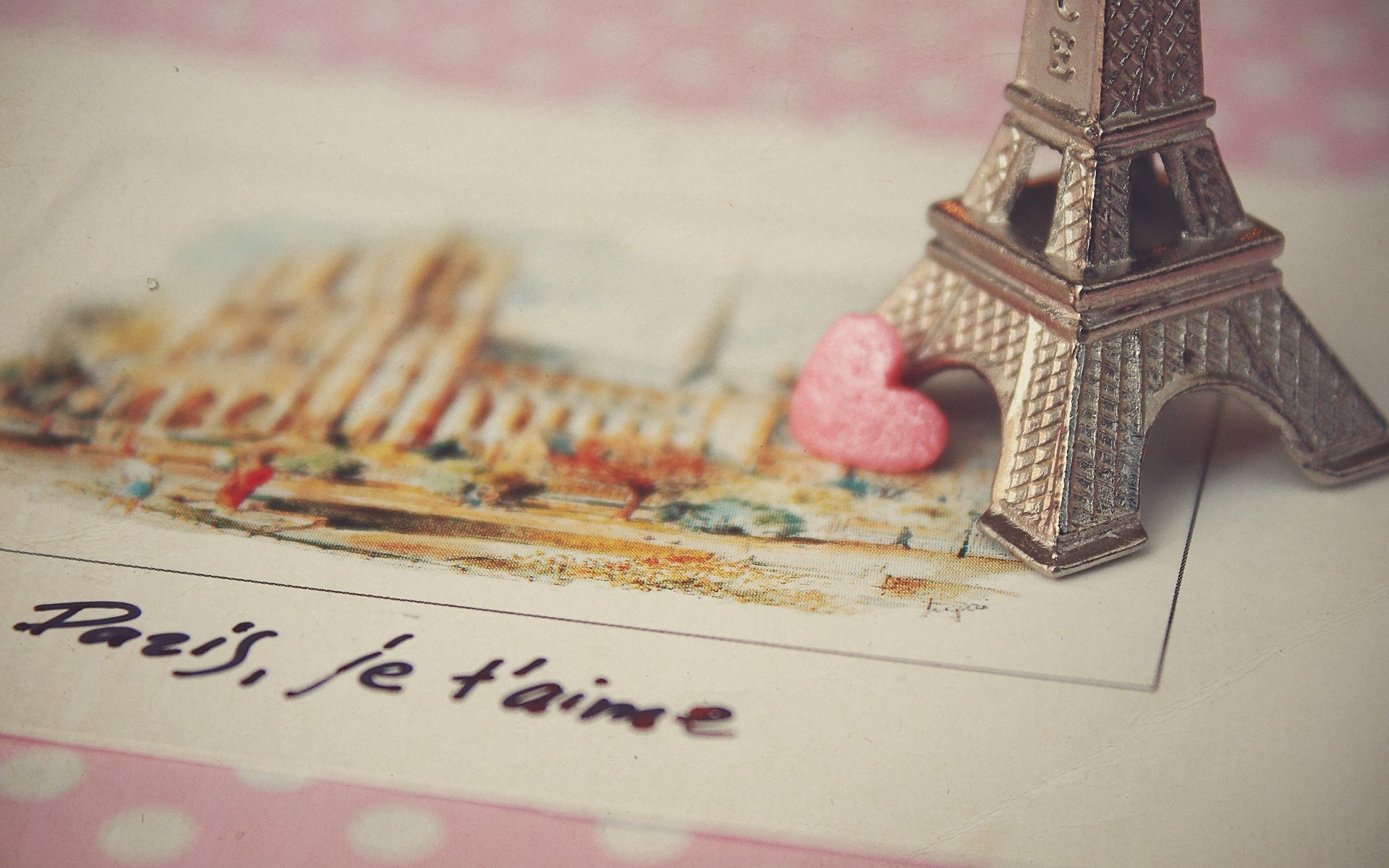 Paris Love Postcard