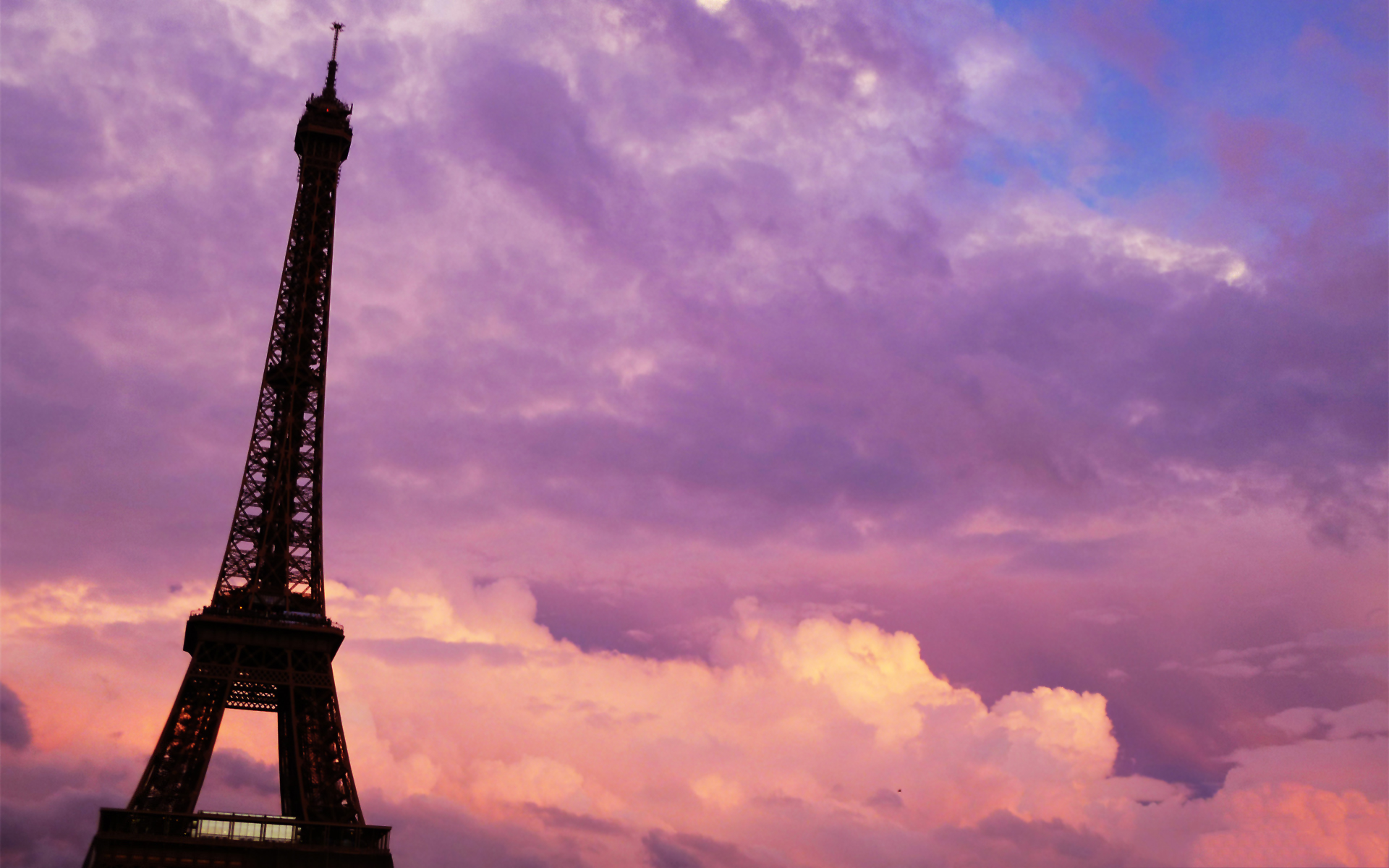 Paris purple pink sunset