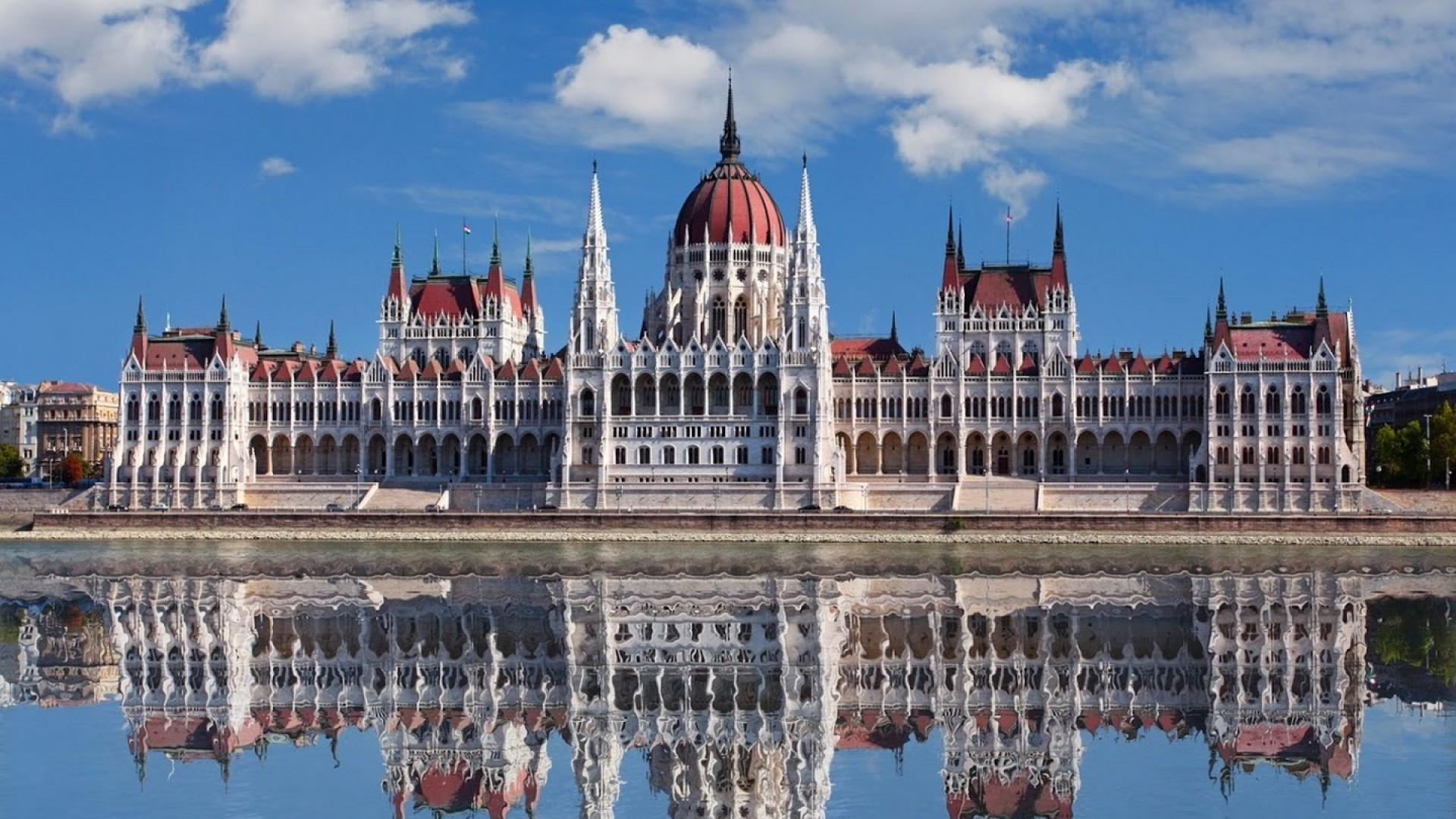 Budapest parliament hd wallpaper