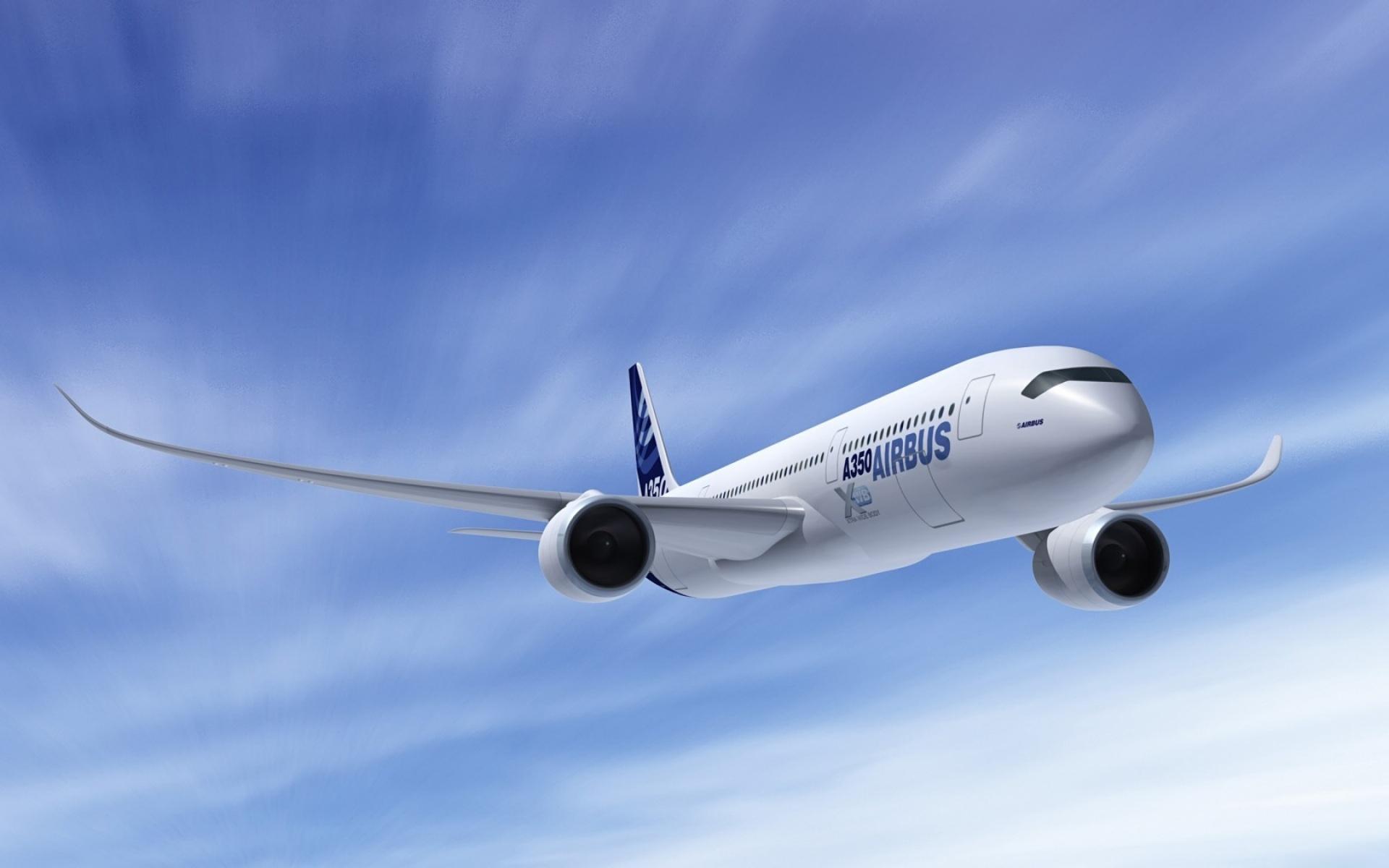Airplane Passengers Airbas-a350 Aviation