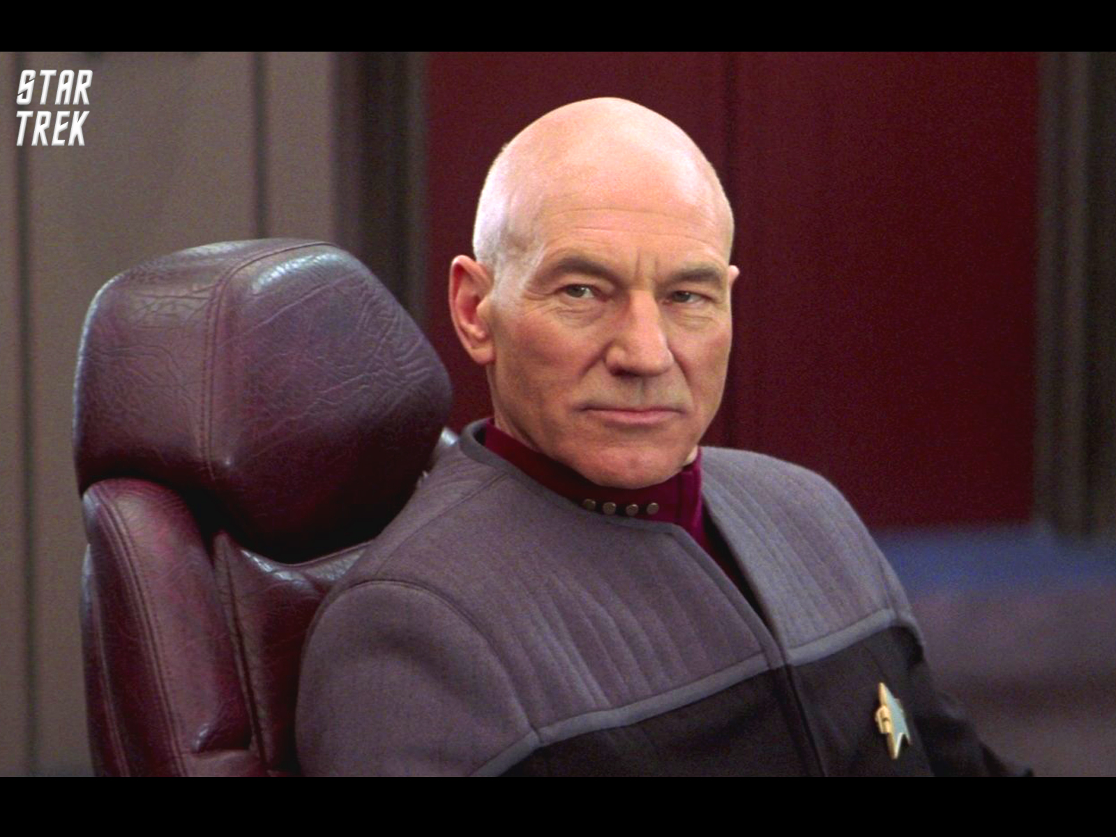 Star Trek The Next Generation Patrick Stewart. Free Star Trek computer desktop wallpaper, images