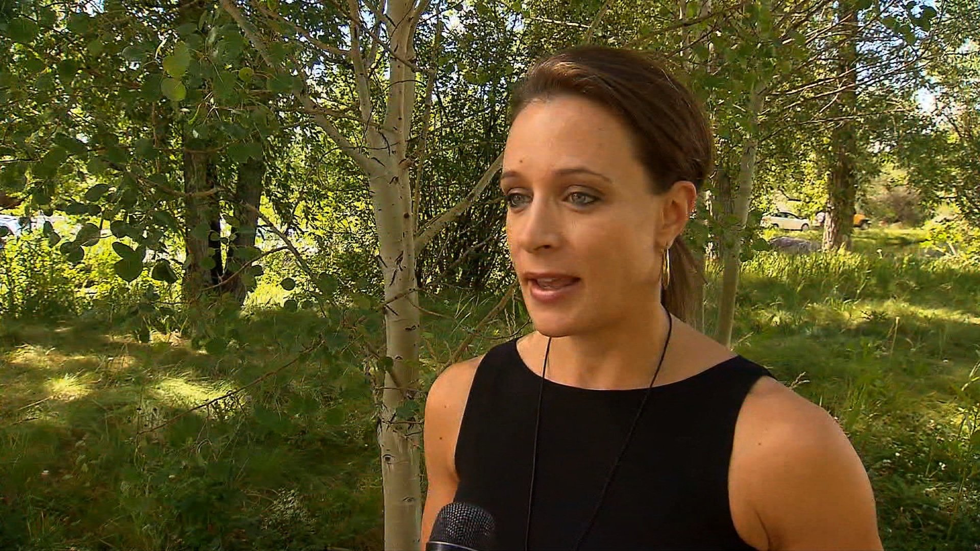 Paula Broadwell speaks to CNN in Aspen, Colorado on July 25, 2012. Broadwell