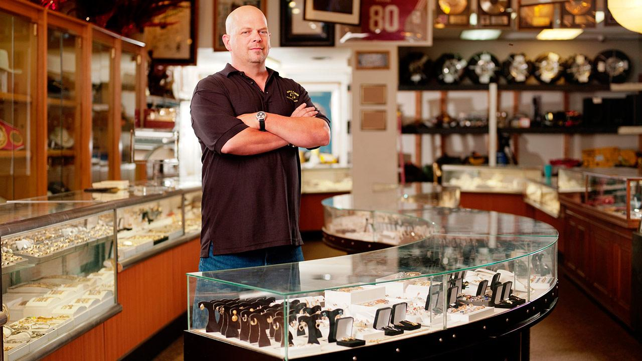 Rick Harrison appears in a publicity photo for the History Channel series Pawn Stars.