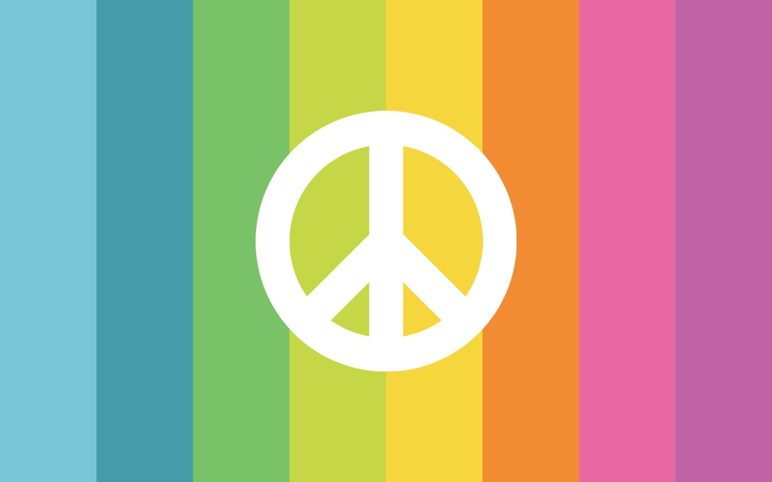 Peace and Love Sign Rainbow Creative