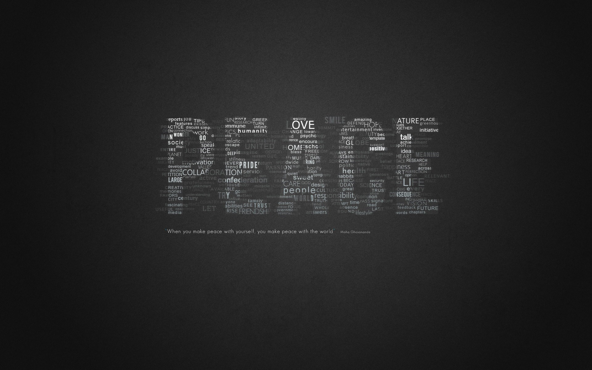 Peace Love Words Creative
