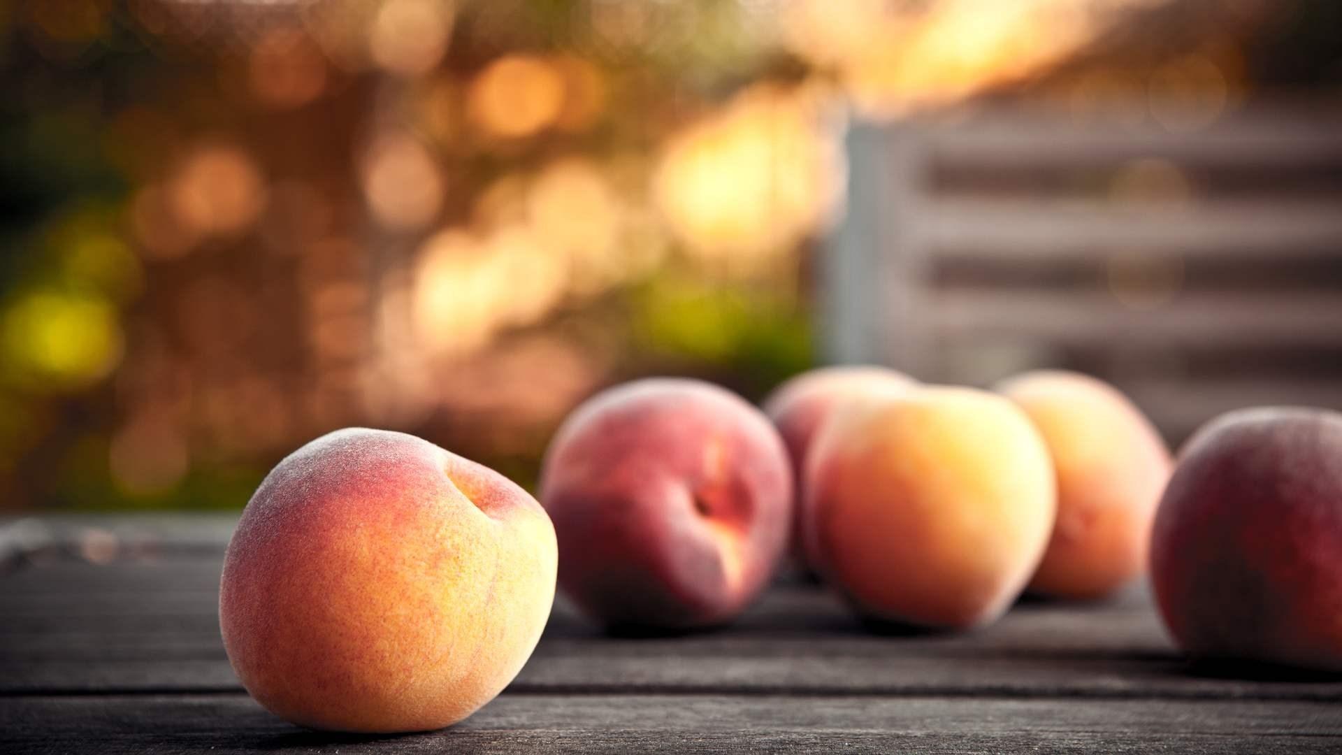Peaches Fruit Hands Photo