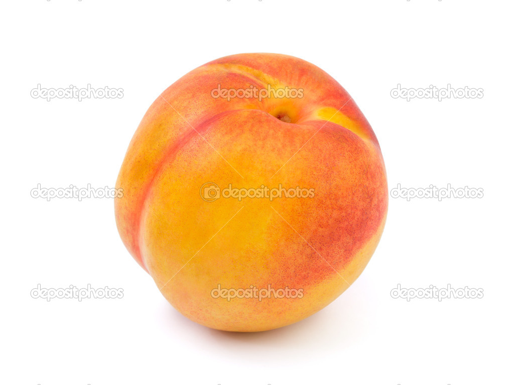 Ripe peach fruit isolated on white background — Photo by Violin