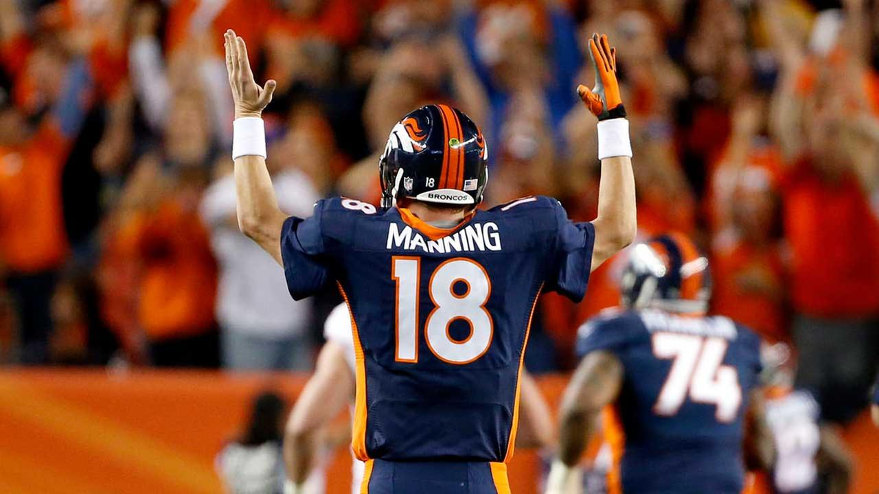 Peyton Manning broke Brett Favres career TD record Sunday night