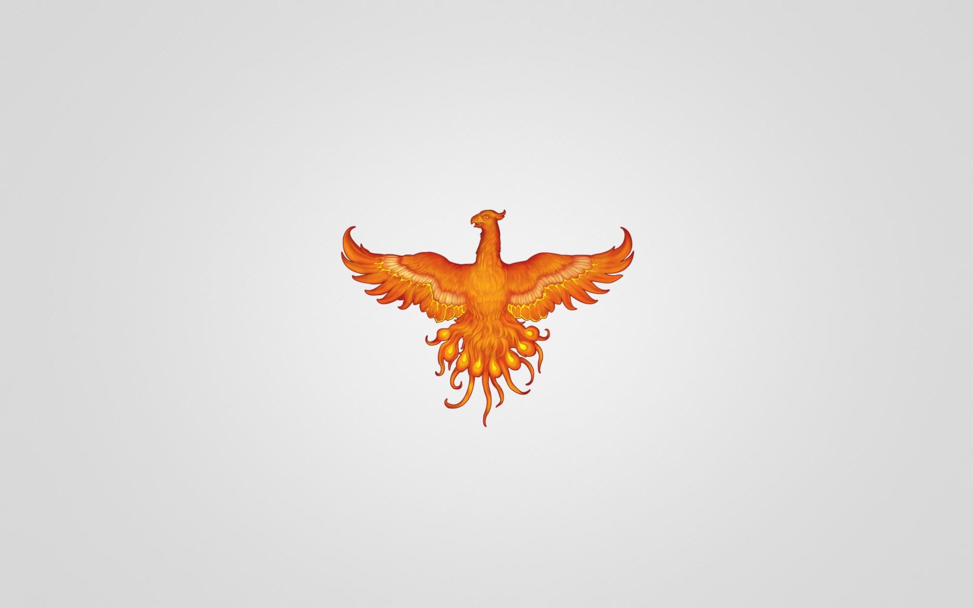 Phoenix Bird Minimalism Art