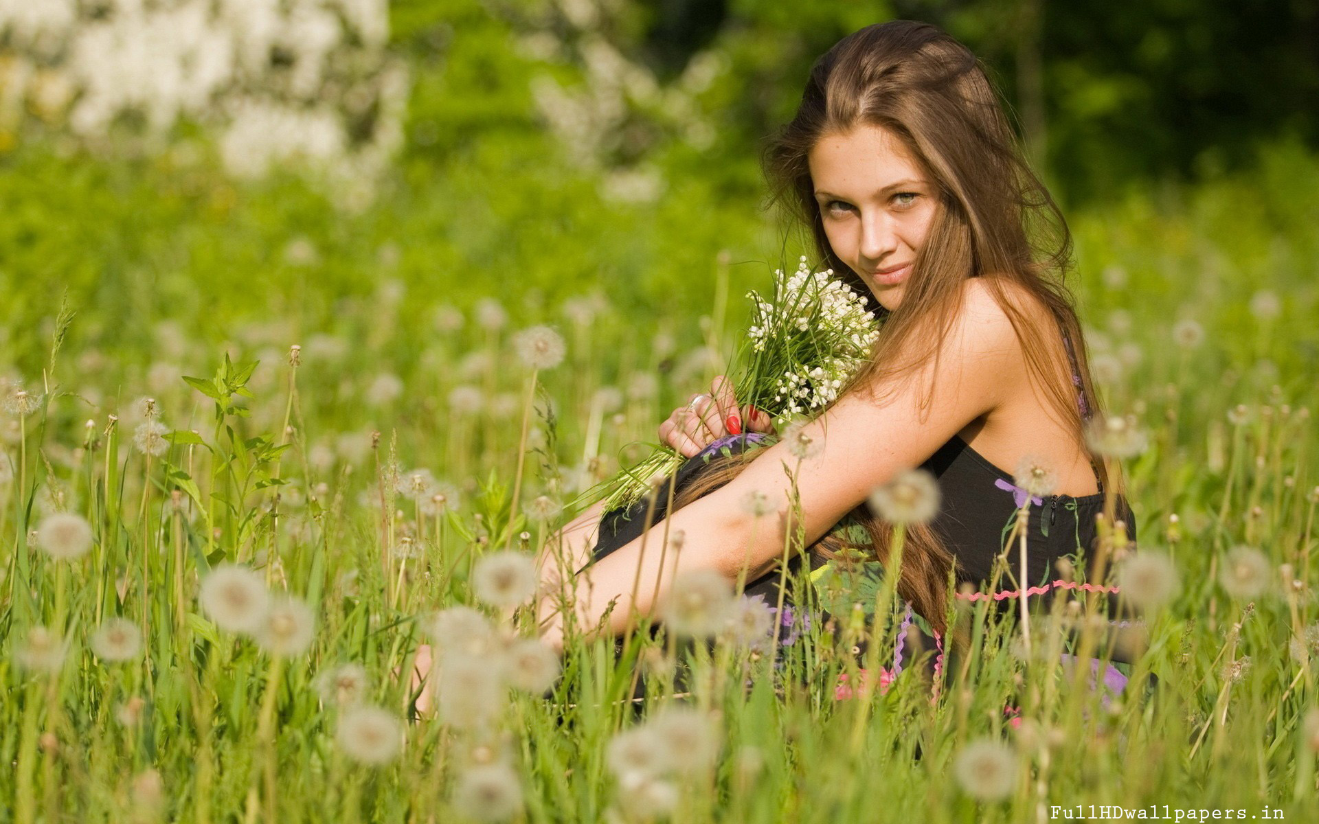 Girl In Nature Wallpaper