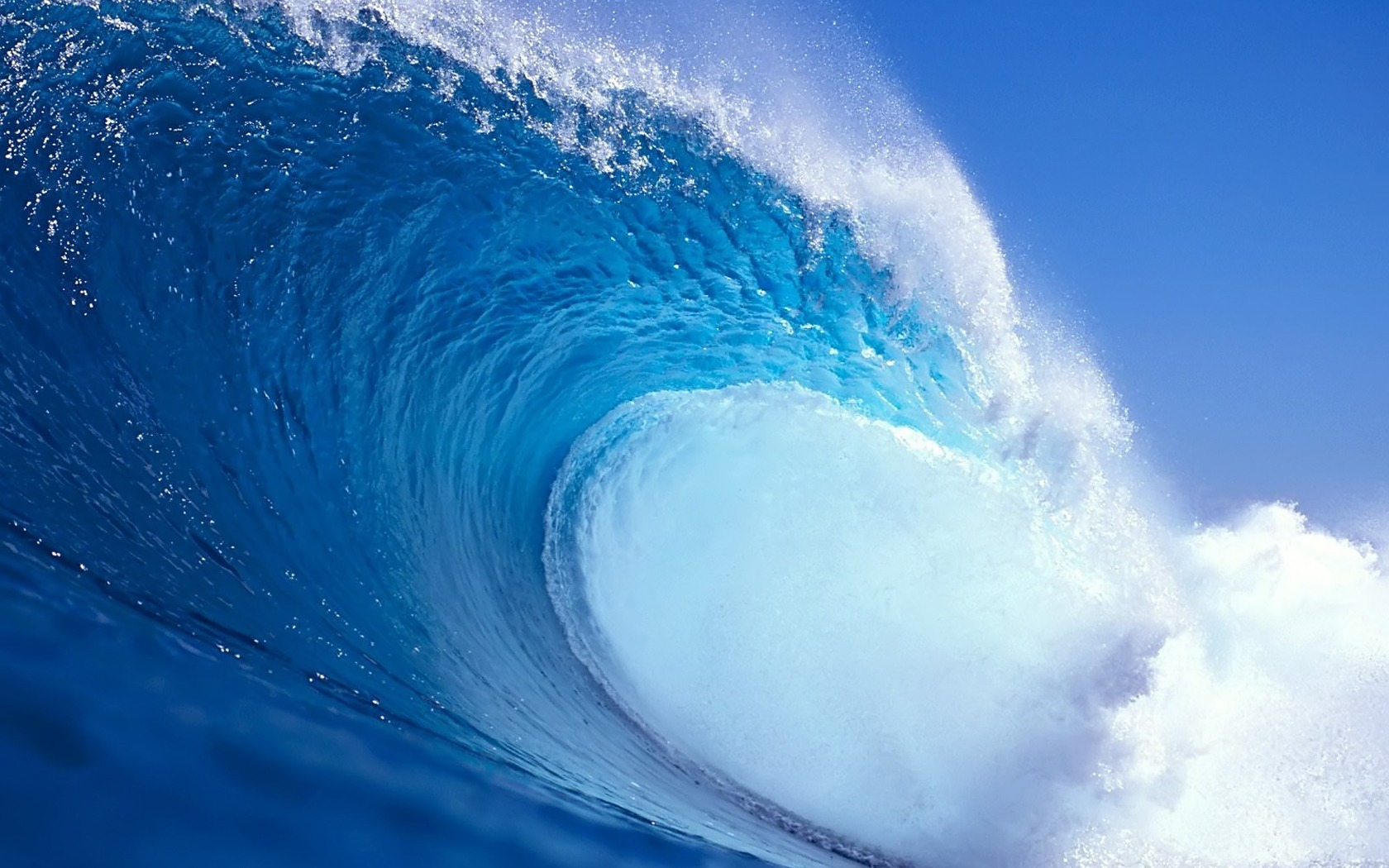 Blue Wave HD Wallpaper