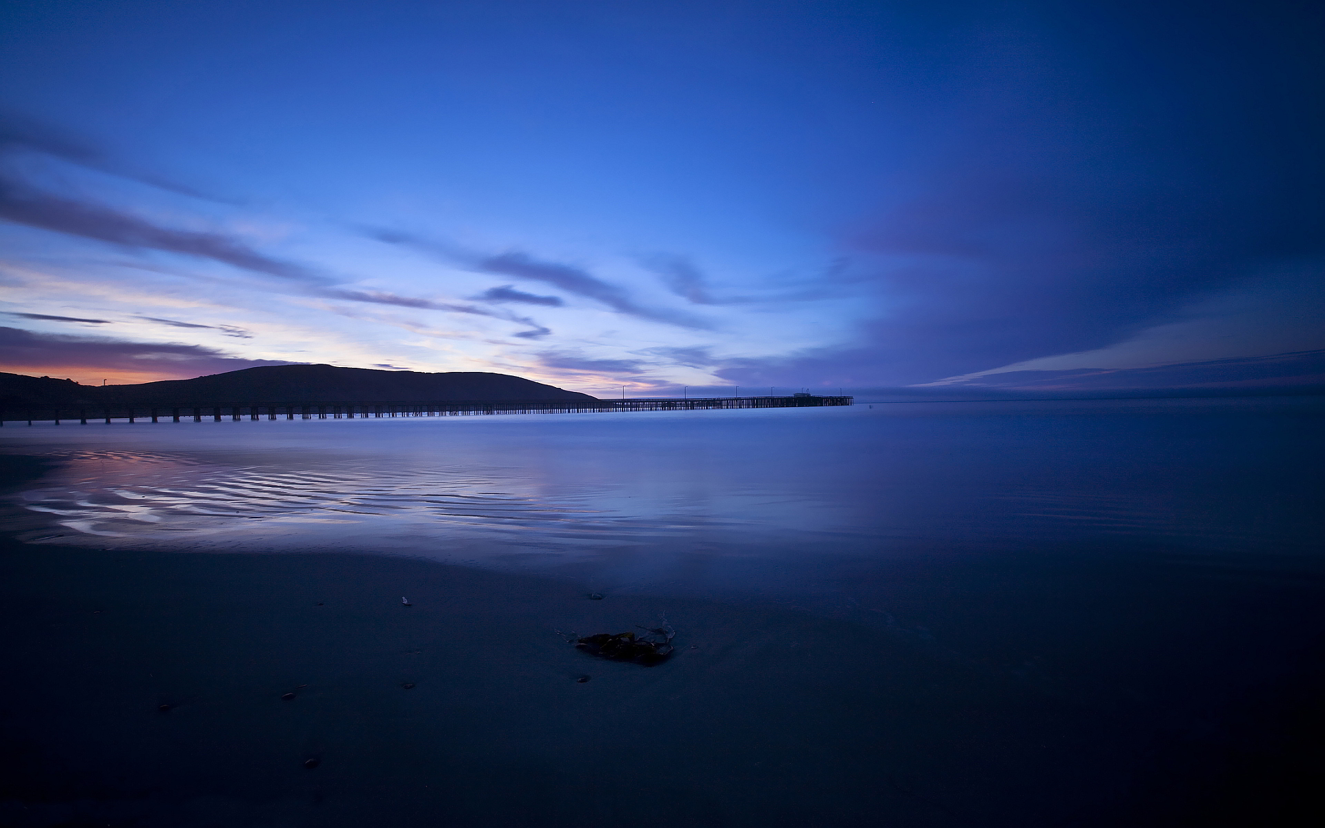 Pier sunset sky