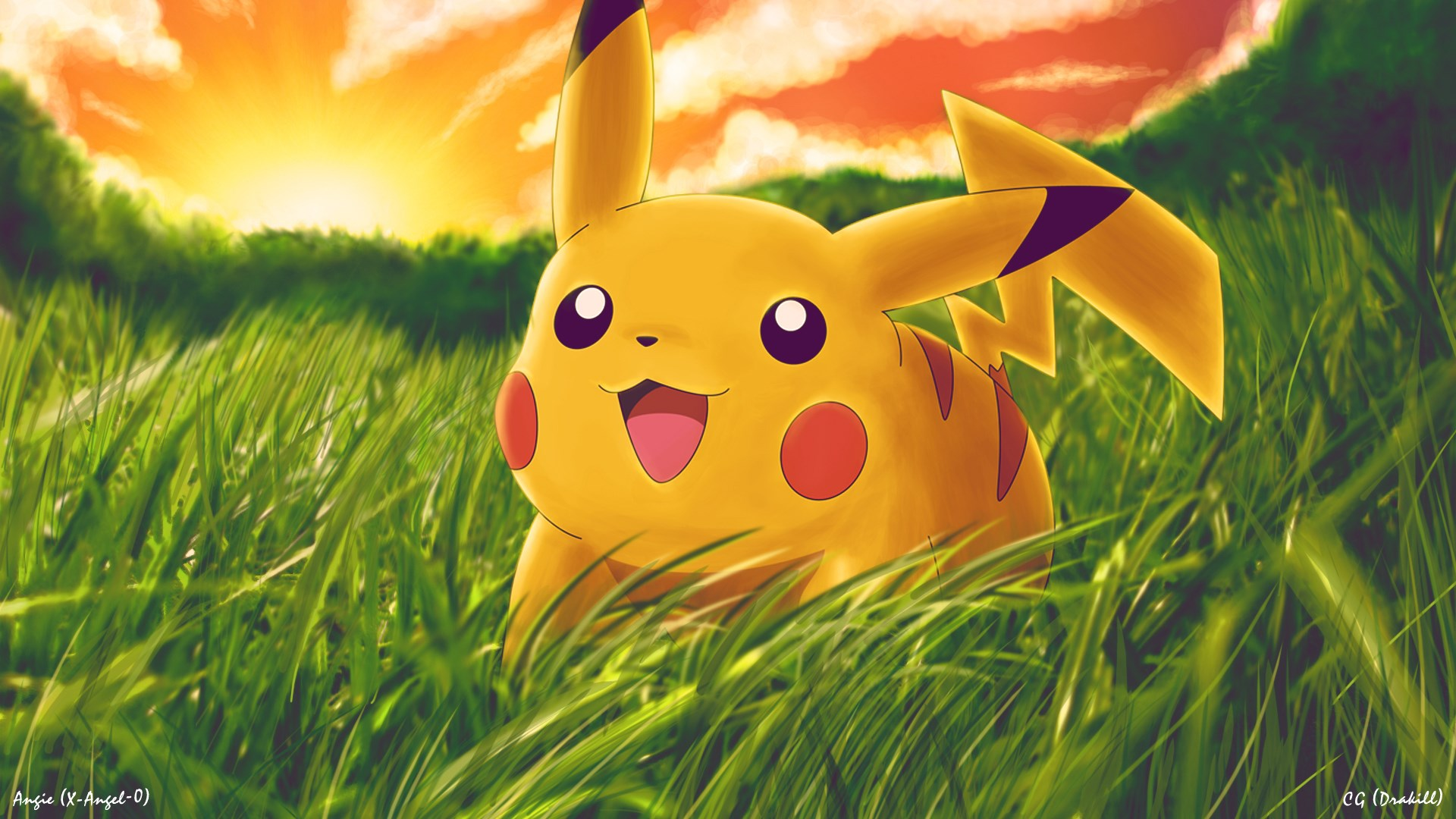 Pikachu Pokemon Cartoon Wallpaper 1920x1080 9538