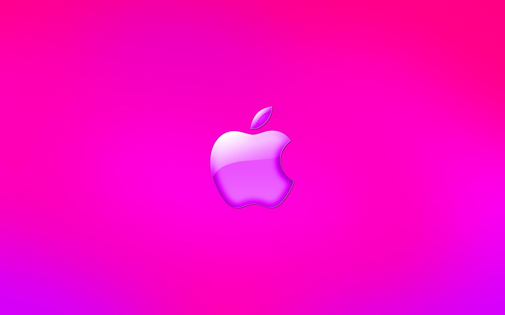 Pink Apple Logo Wallpaper