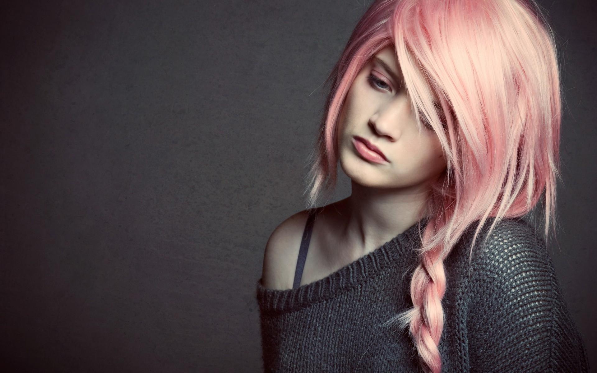 Girl pink hair