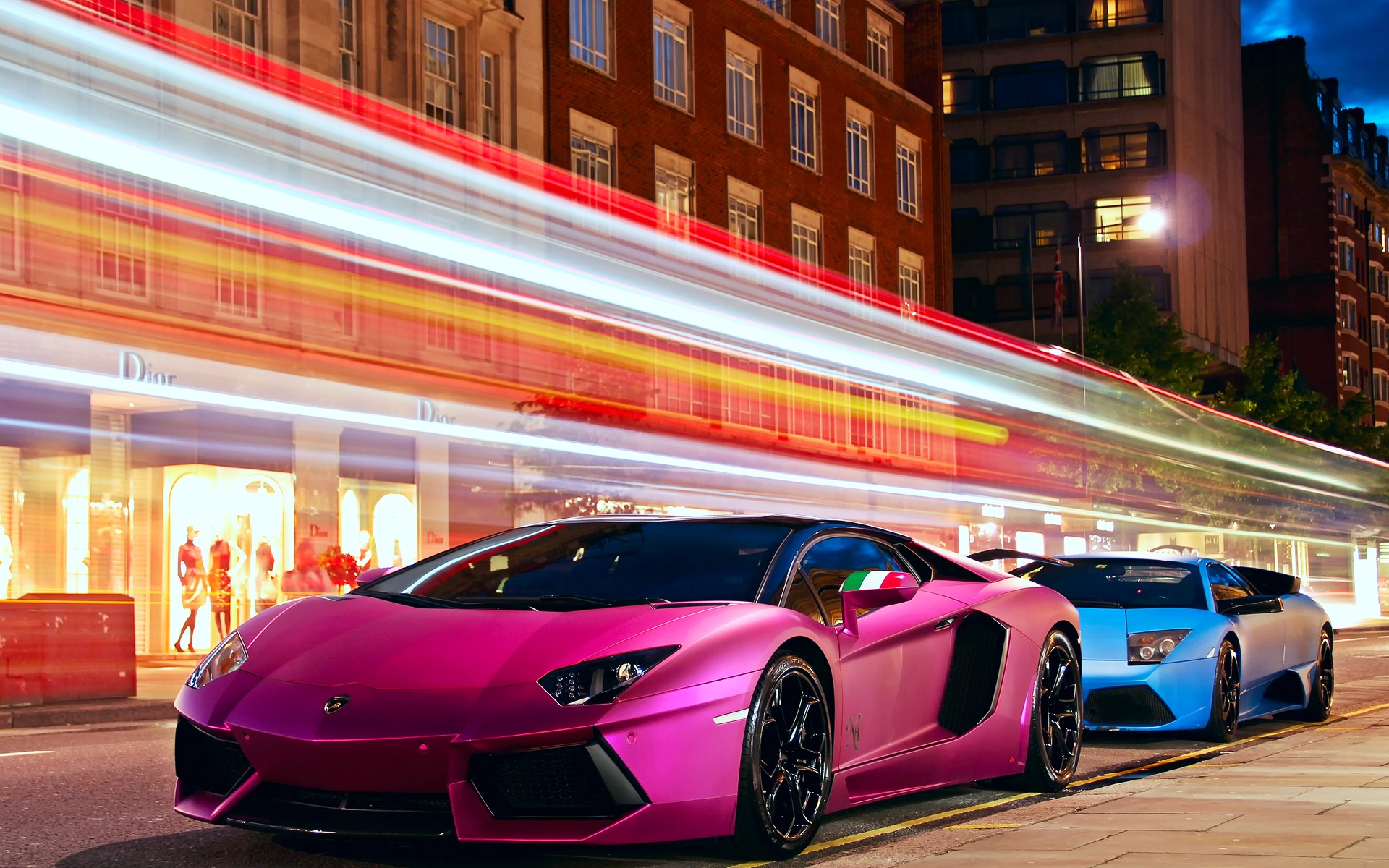 Pink Lamborghini City