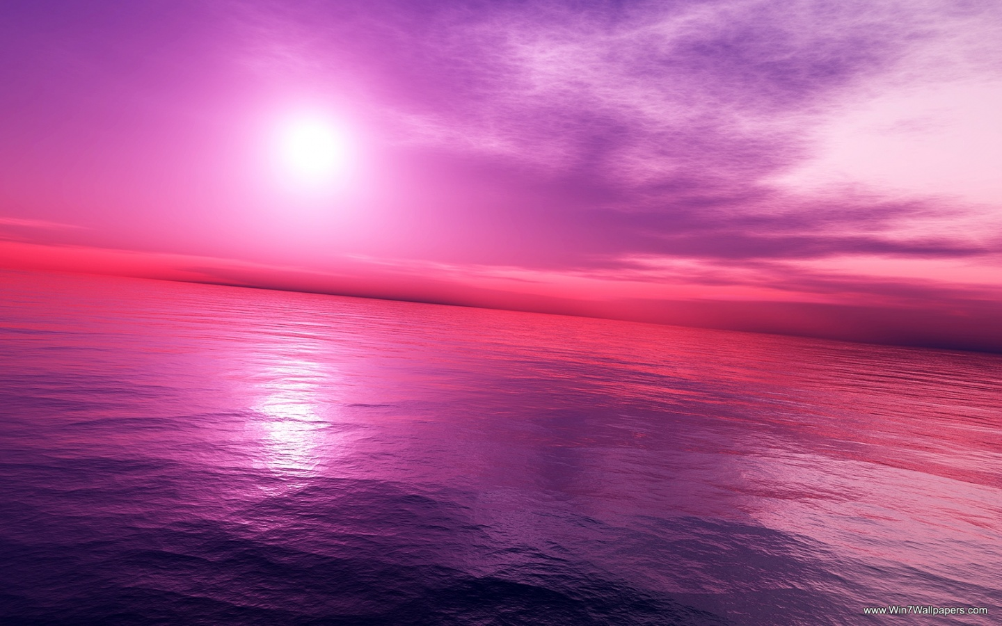 Pink Sunset Background
