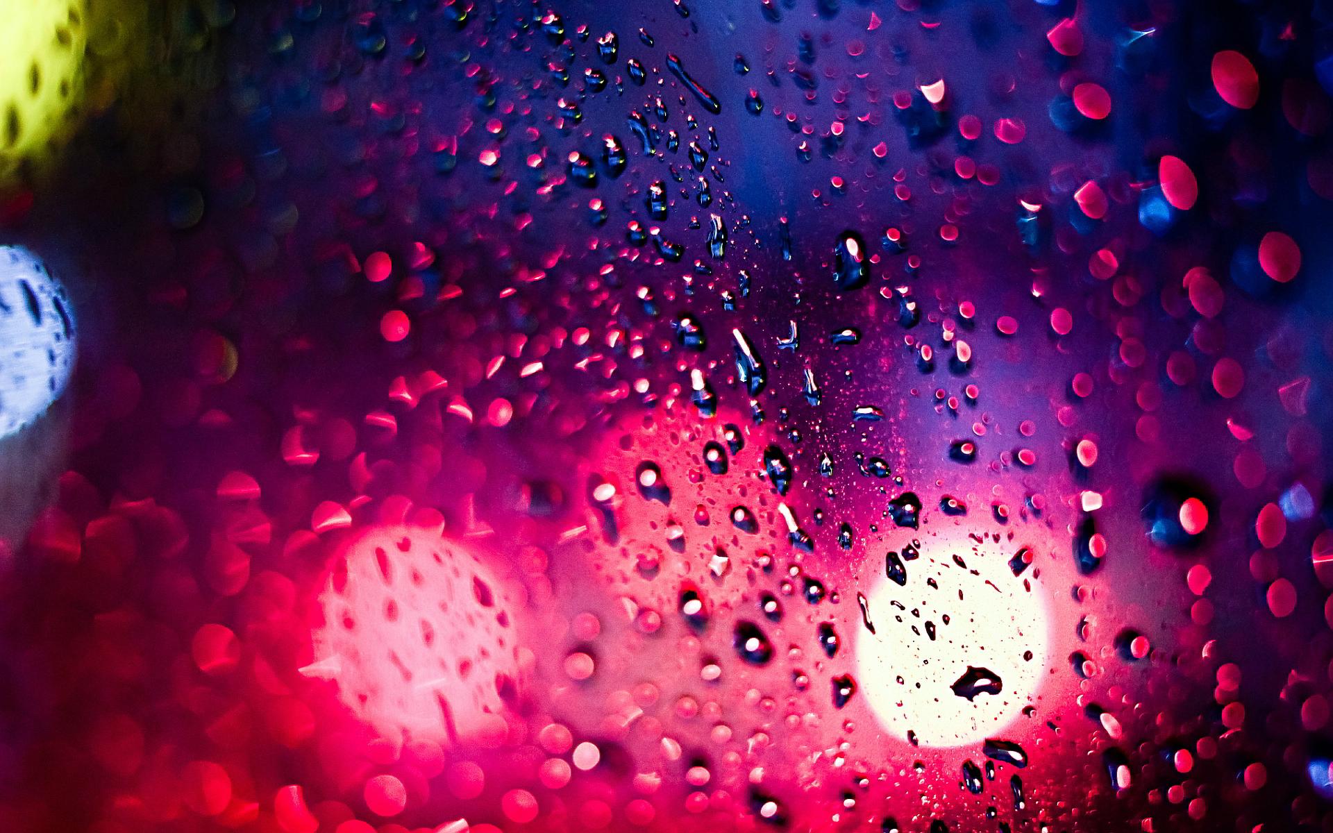 Pink window drops