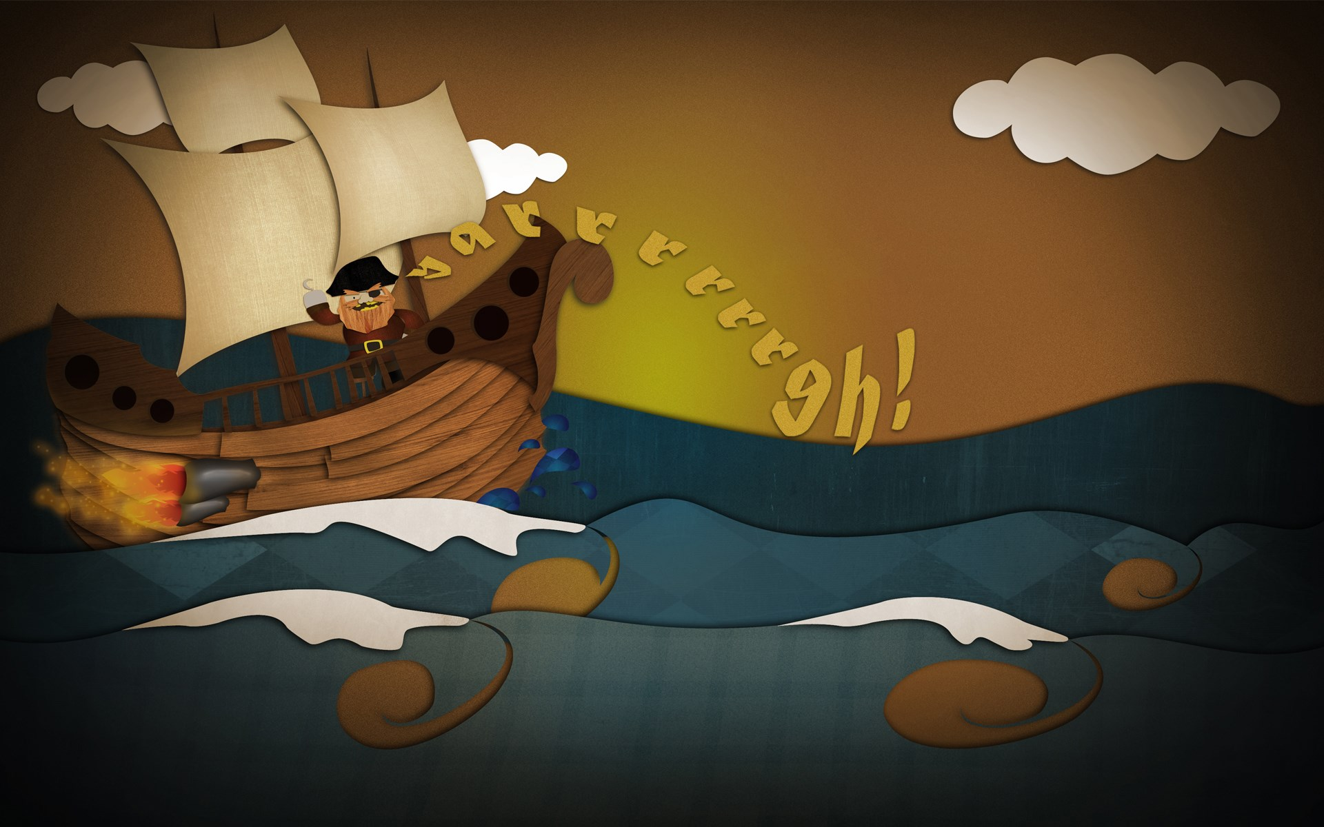 Pirate Ship Art Cartoon