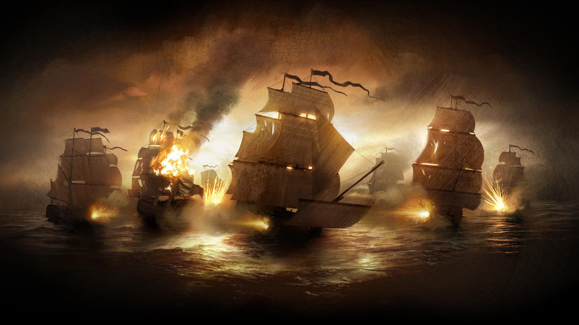 Amazing Pirate Ship High Quality Hd Wallpaper Desktop 1920x1080px