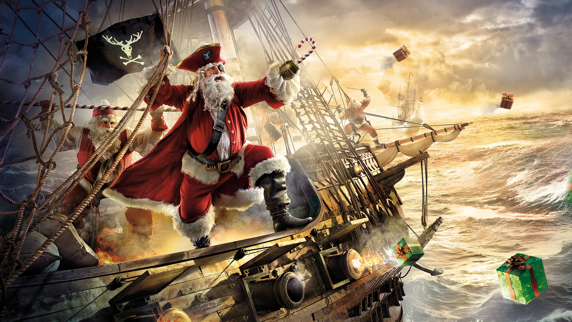 santa pirate hd wallpapers