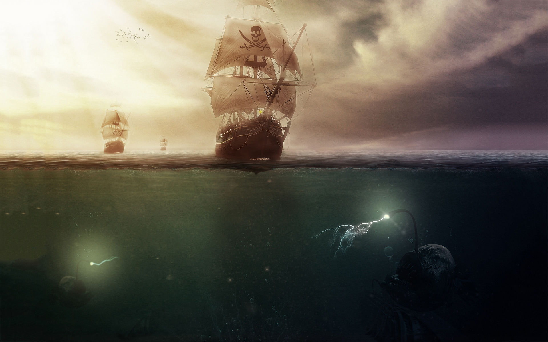 Pirates sea monsters