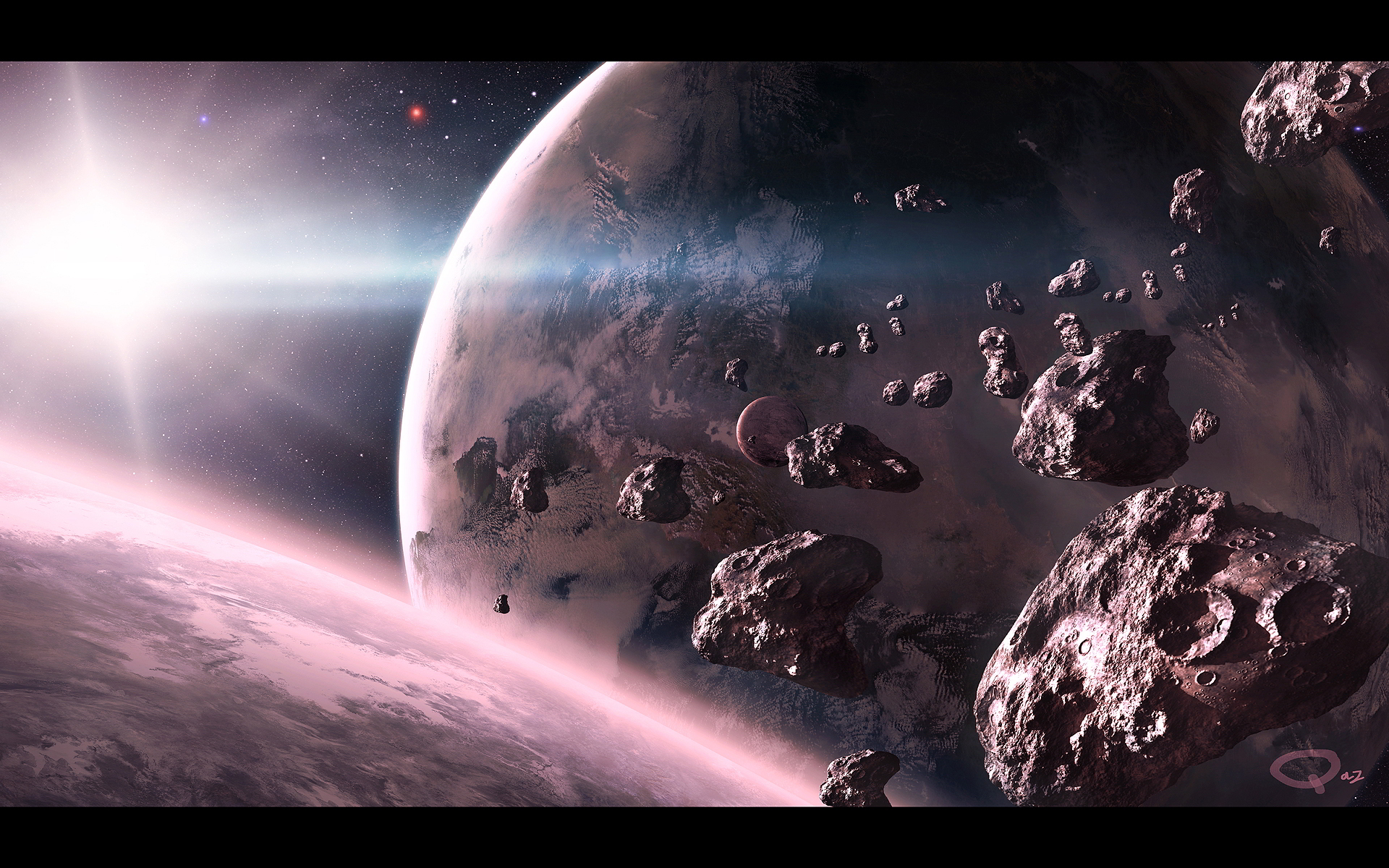asteroid in space blowing up - photo #17