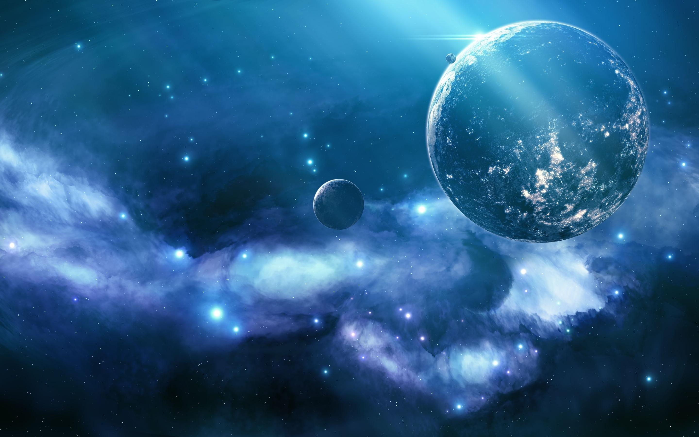 Planet blue nebula