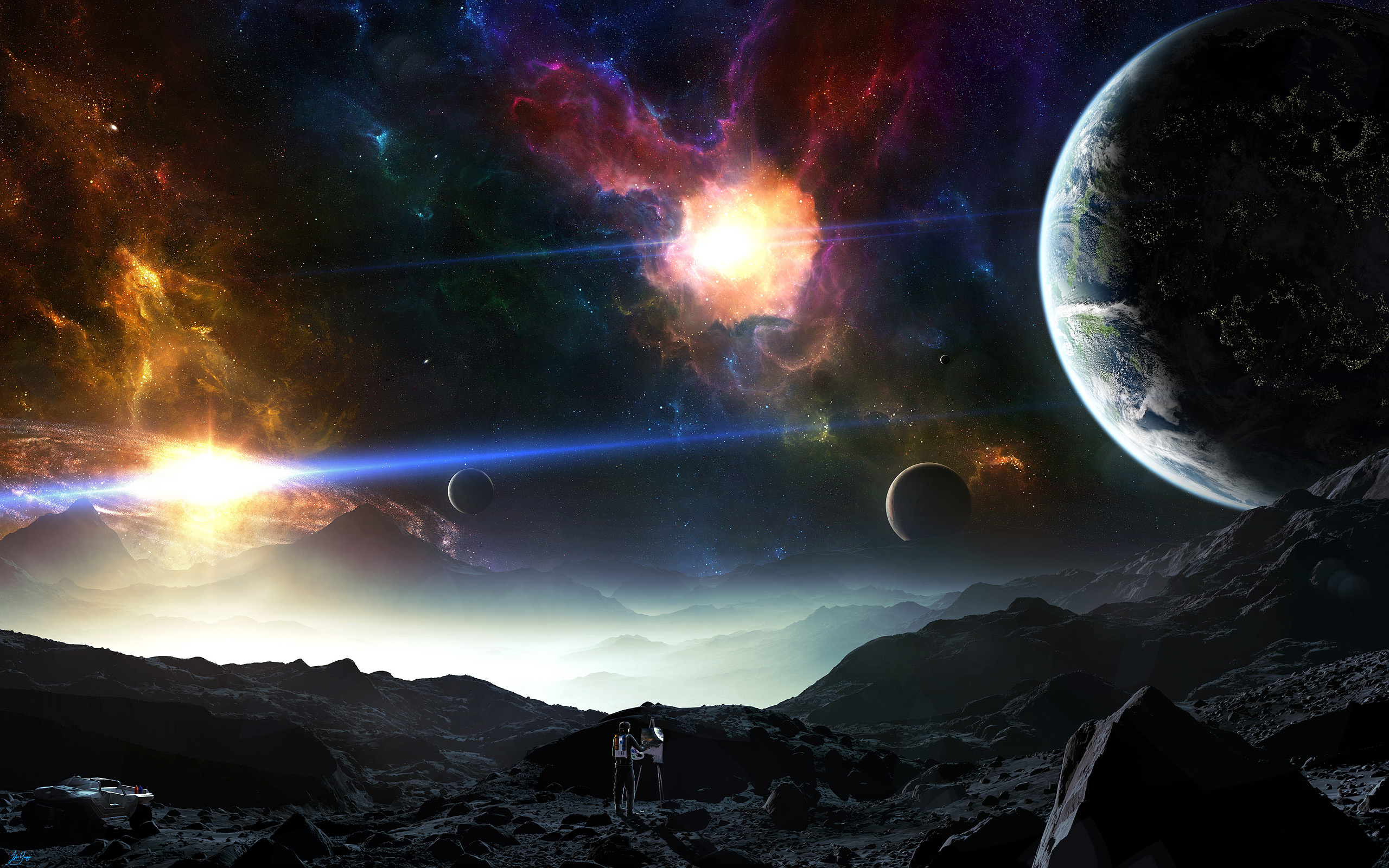 Space Planets Art