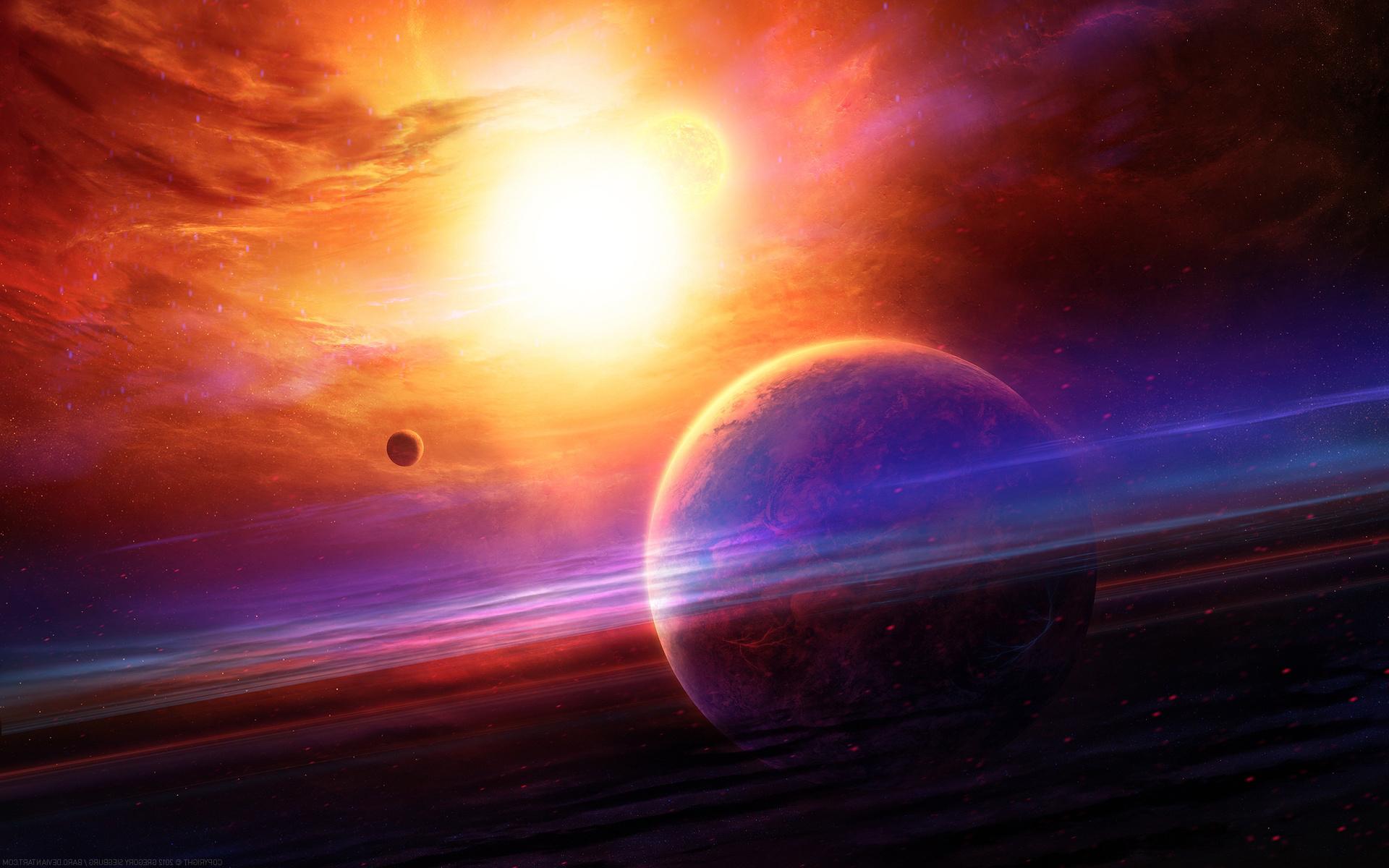 Planets sun stars