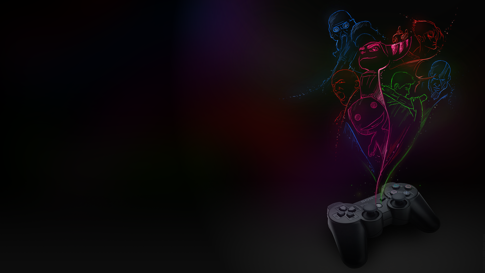 Decided I'd make it into a wallpaper I could use on my PS3. Thought it looked pretty good so I decided to share it!