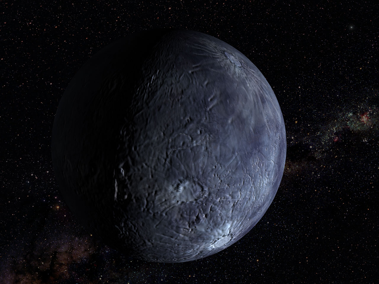Hubble Spots an Icy World Far Beyond Pluto (artist's impression)