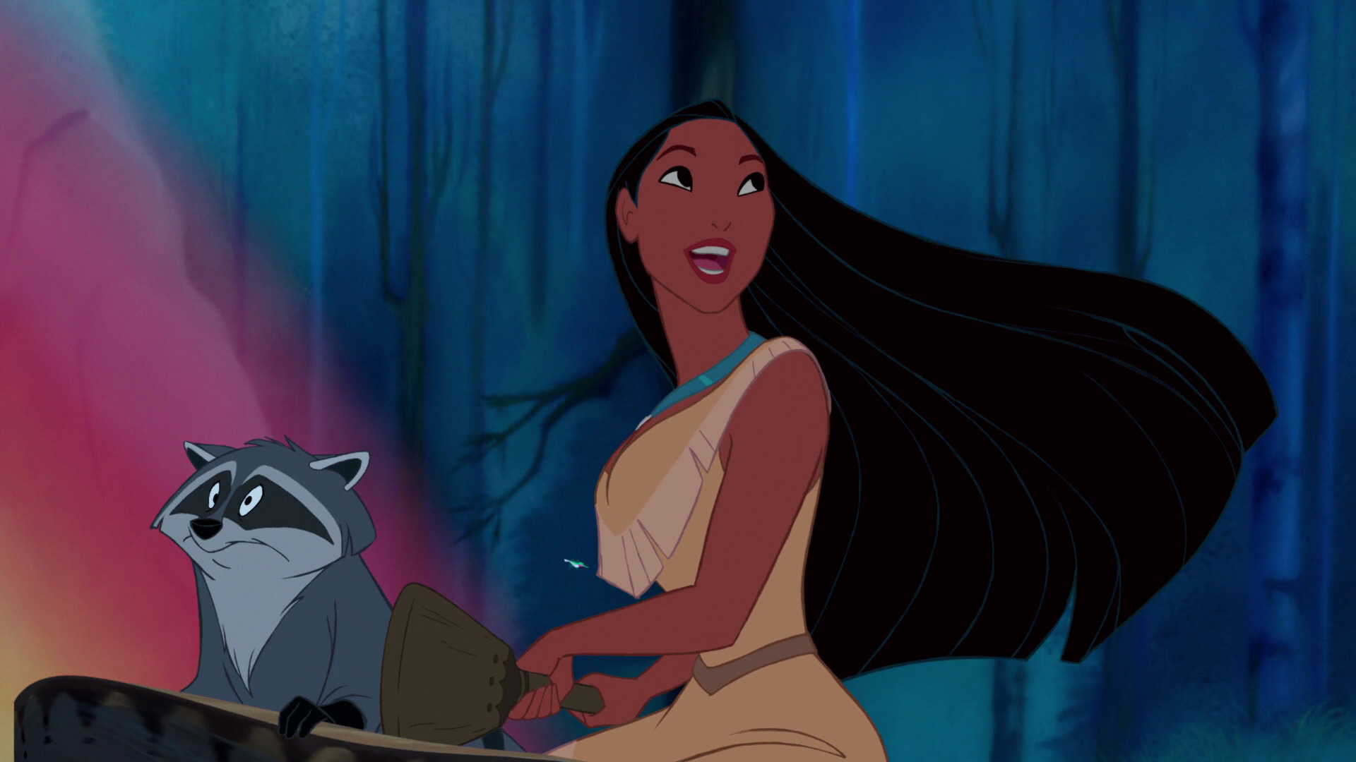 Pocahontas and Meeko in the original film.