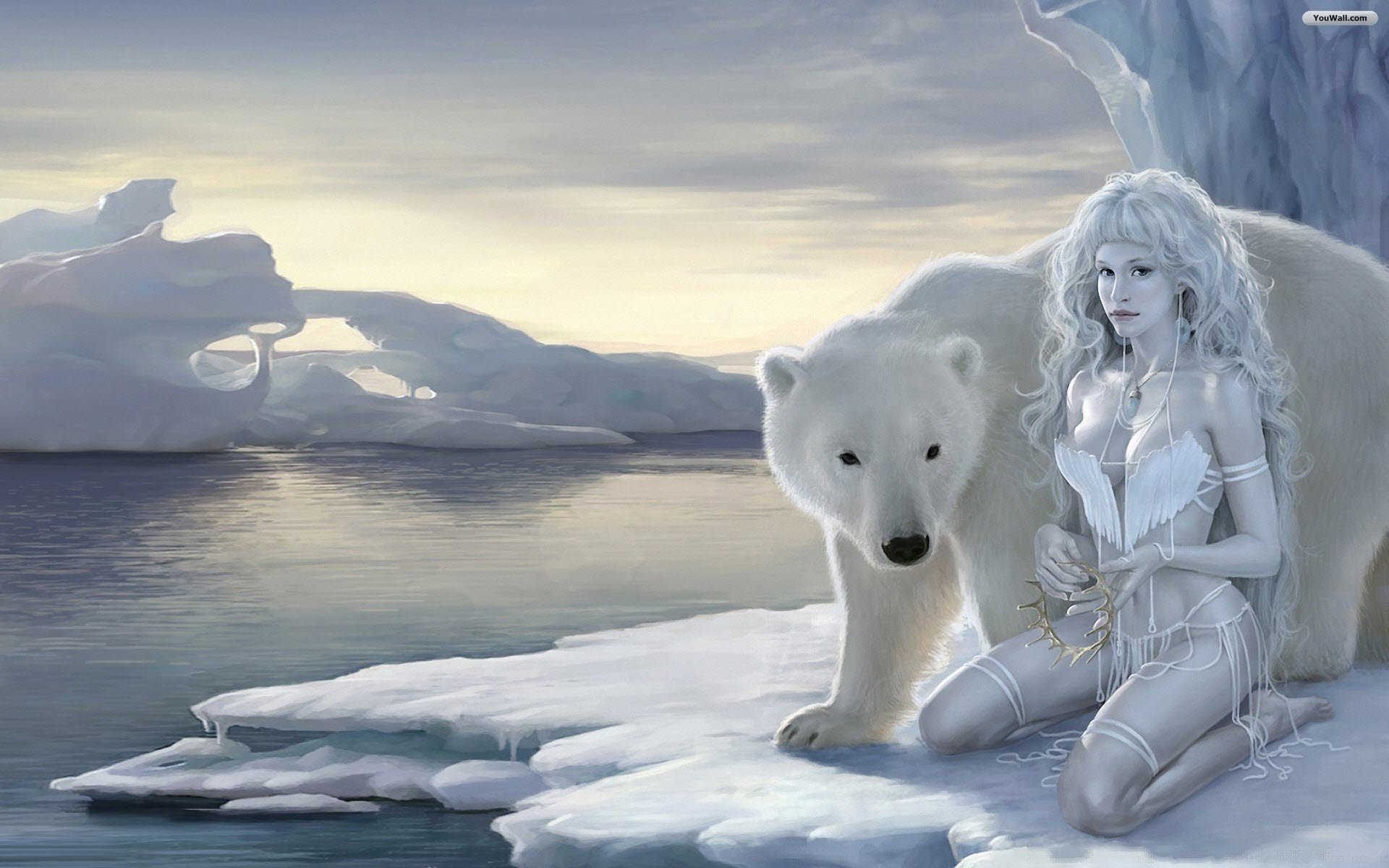 polar bear and girl 181226