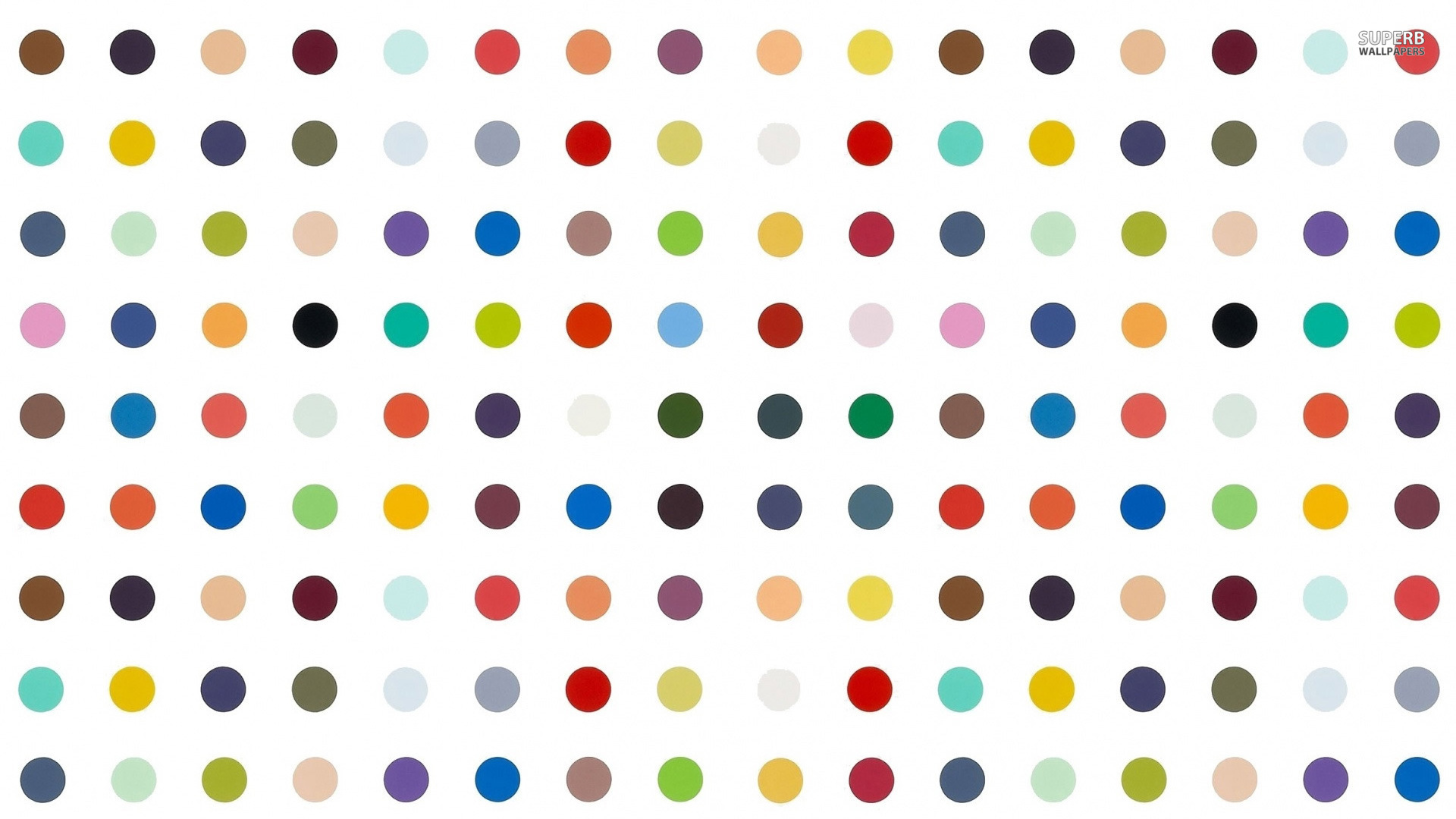 Colorful polka dots wallpaper 1920x1080