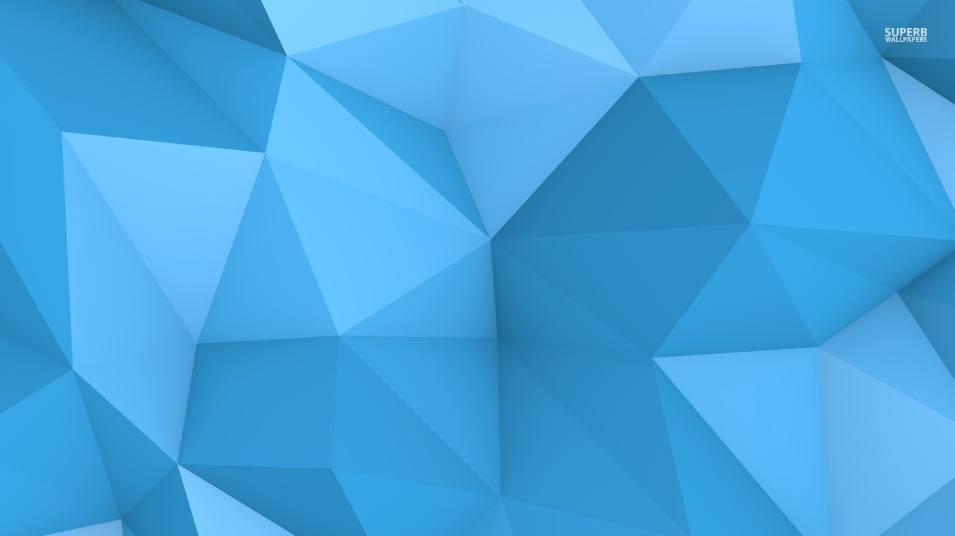 Blue polygon wallpaper 1366x768
