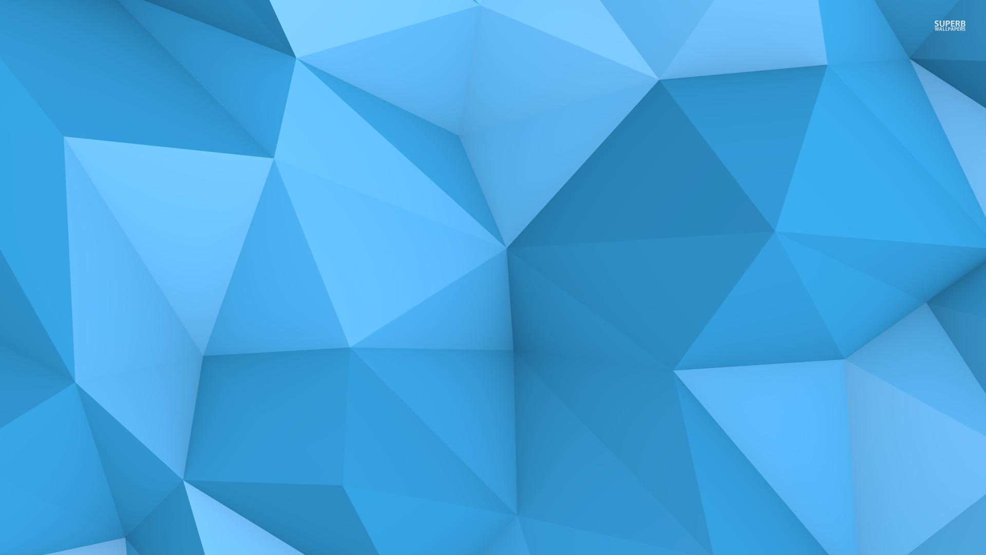 Blue polygon wallpaper 1920x1080 jpg