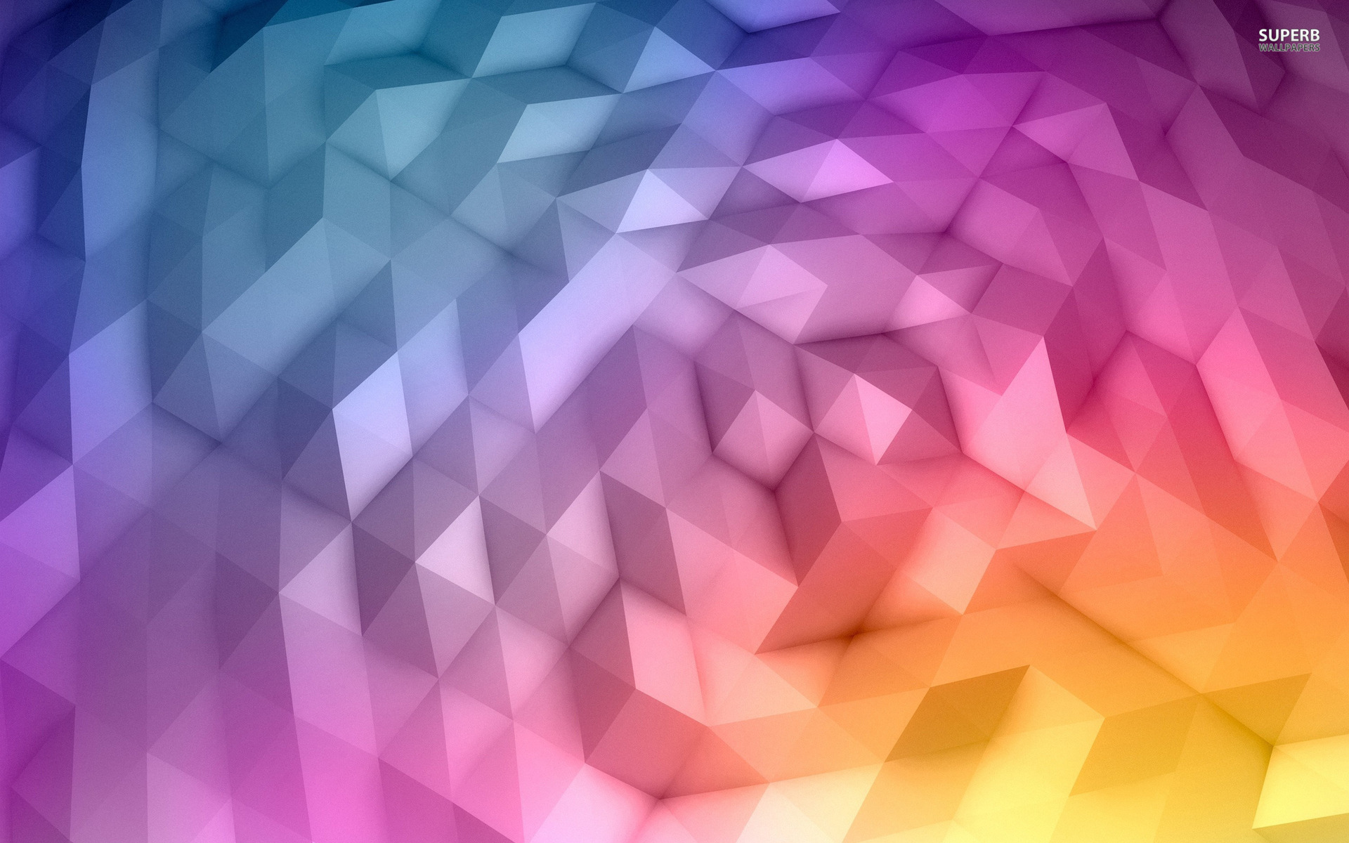 Gradient polygons wallpaper 1920x1200