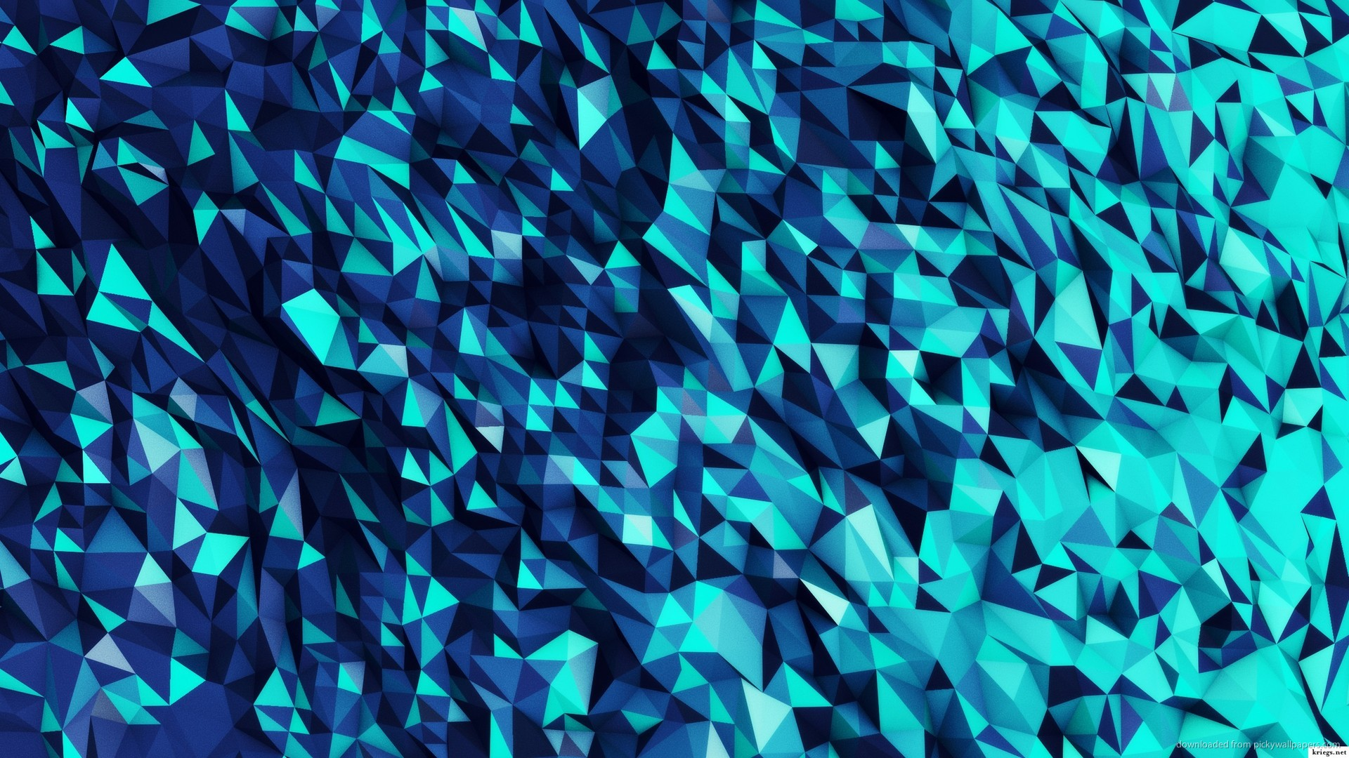 ... Blue Polygons for 1920x1080