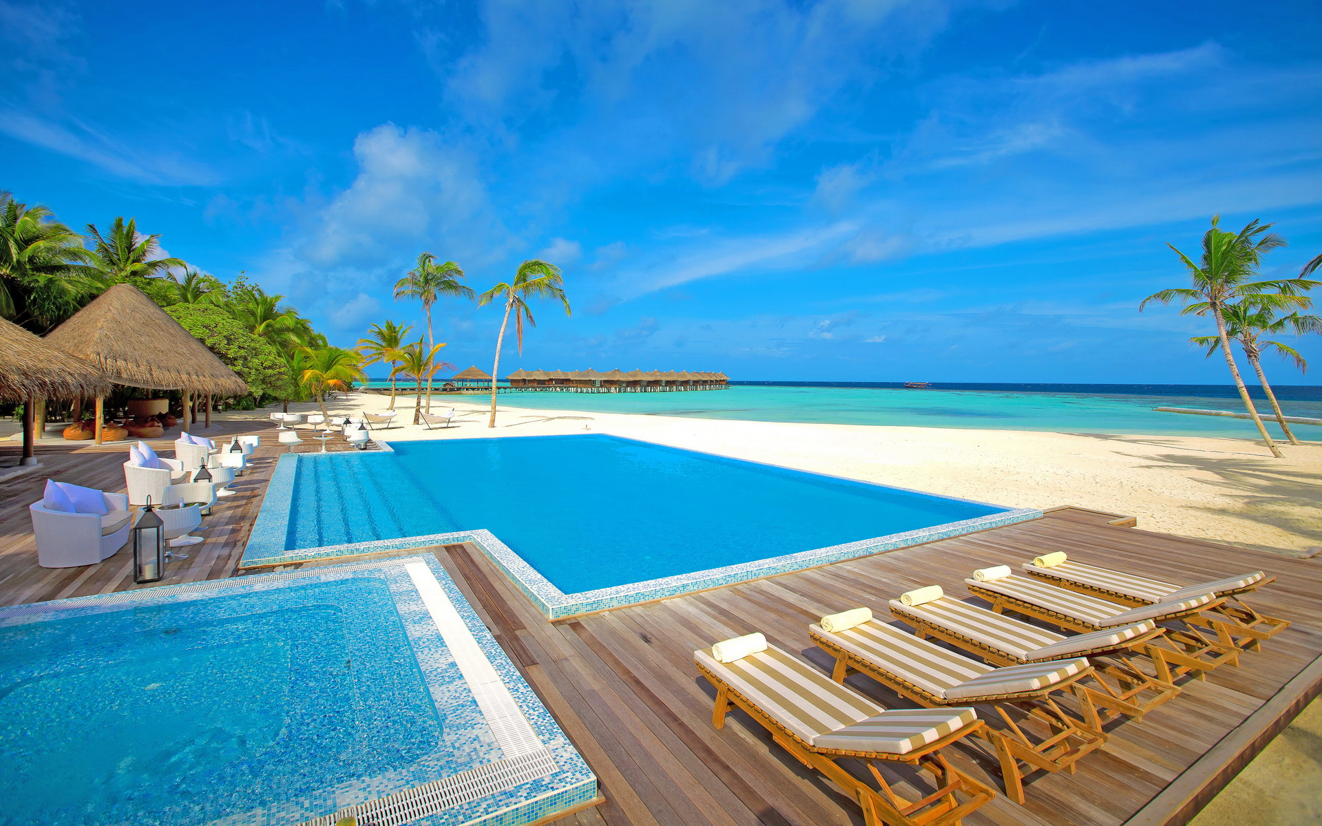 Pool Resort Maldives wallpaper | 1920x1200 | #31427