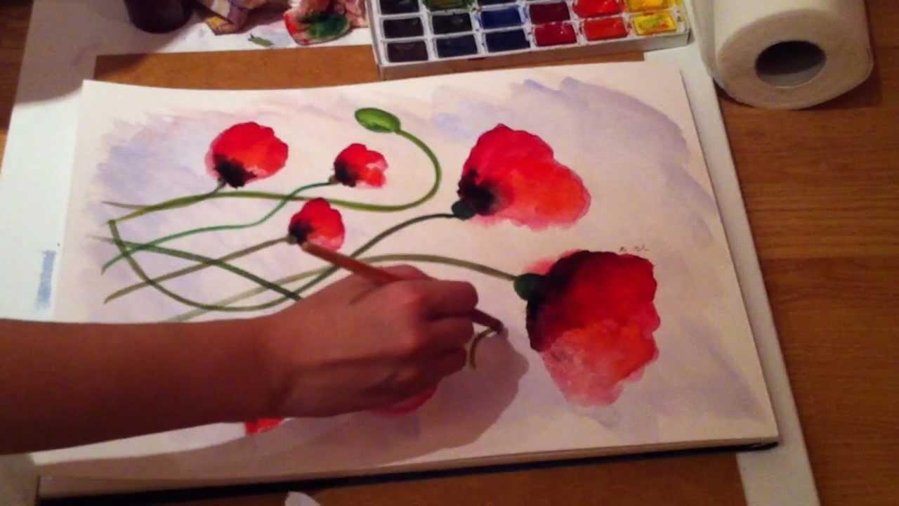 Poppy Spree - Week 2 Painting