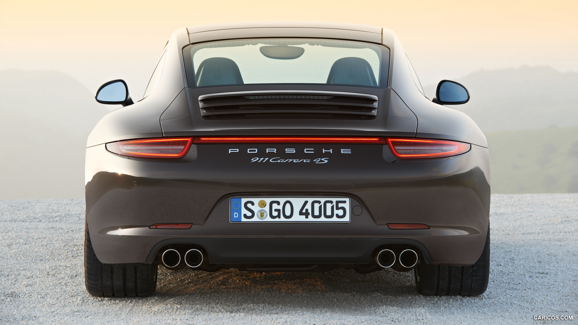 Porsche carrera 4s rear