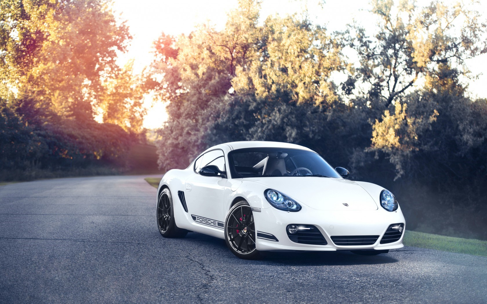 Porsche Cayman R Car White