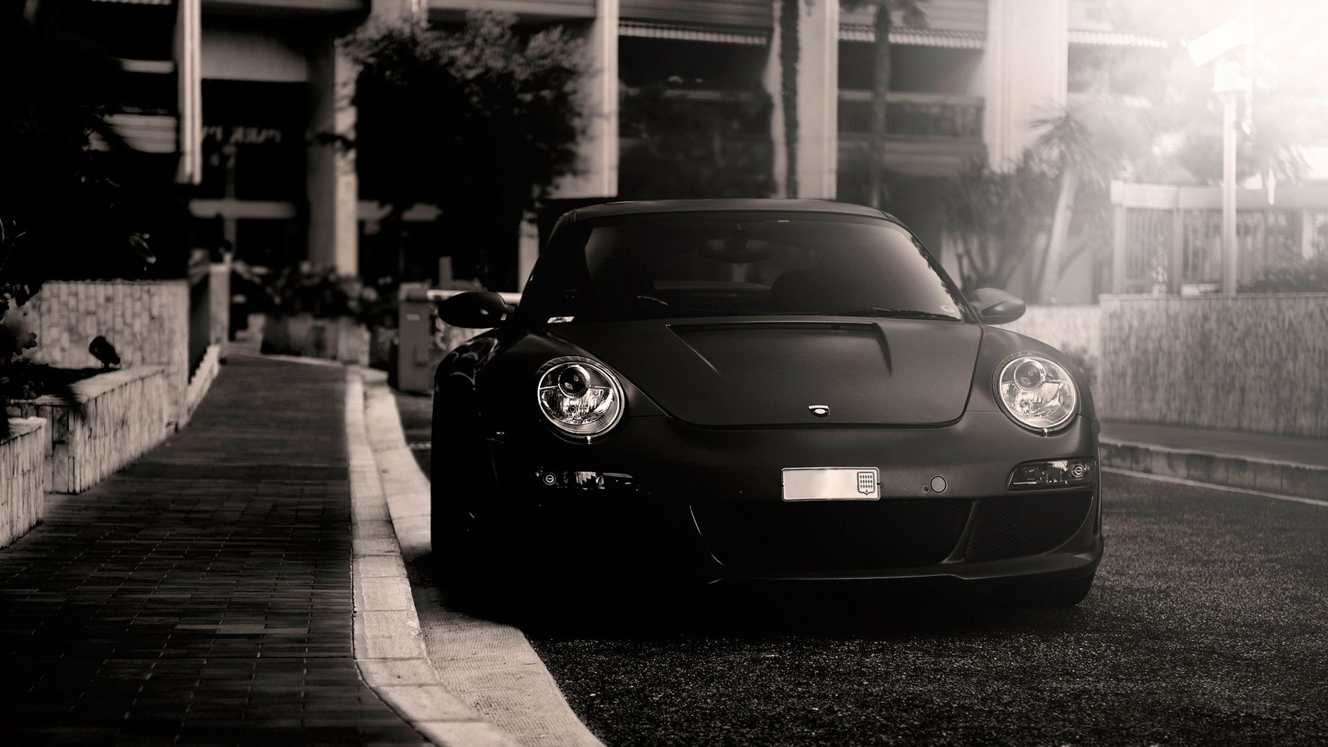 Porsche greyscale